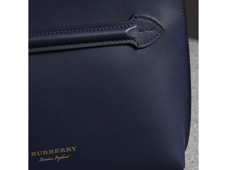 Leather Wristlet Clutch in Mid Indigo - Women | Burberry United States - cell image 4