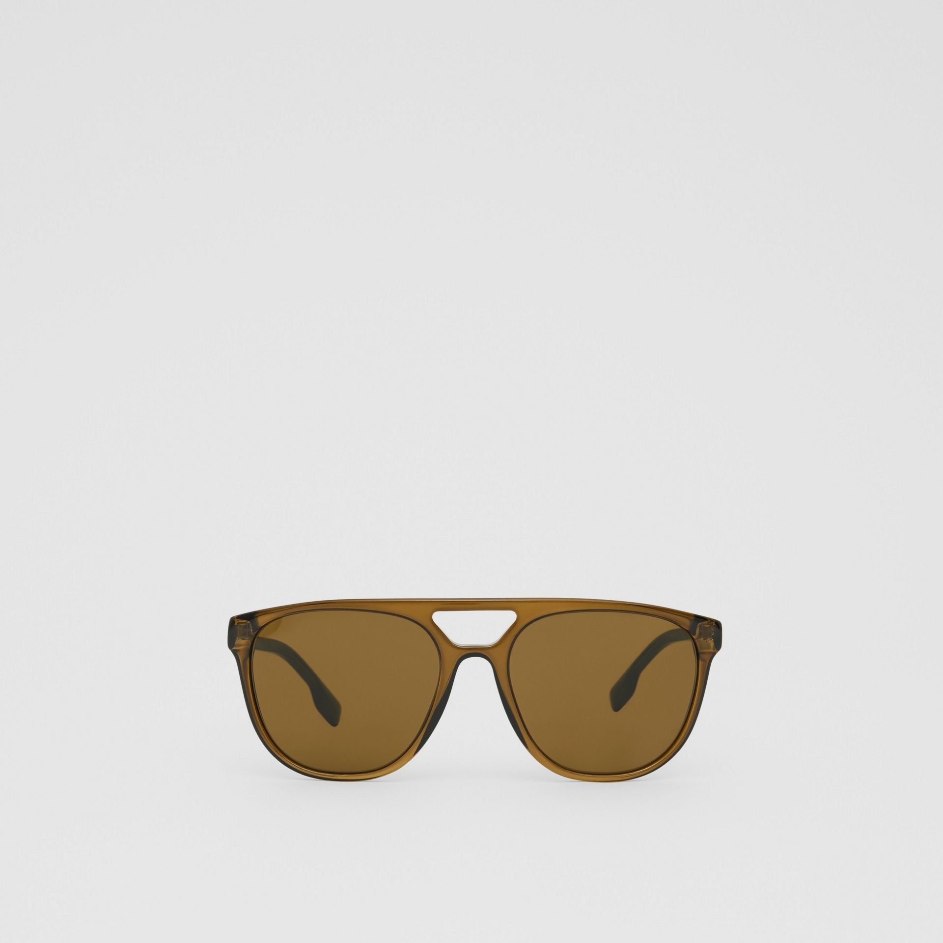 Navigator Sunglasses in Olive Green - Men | Burberry - gallery image 0