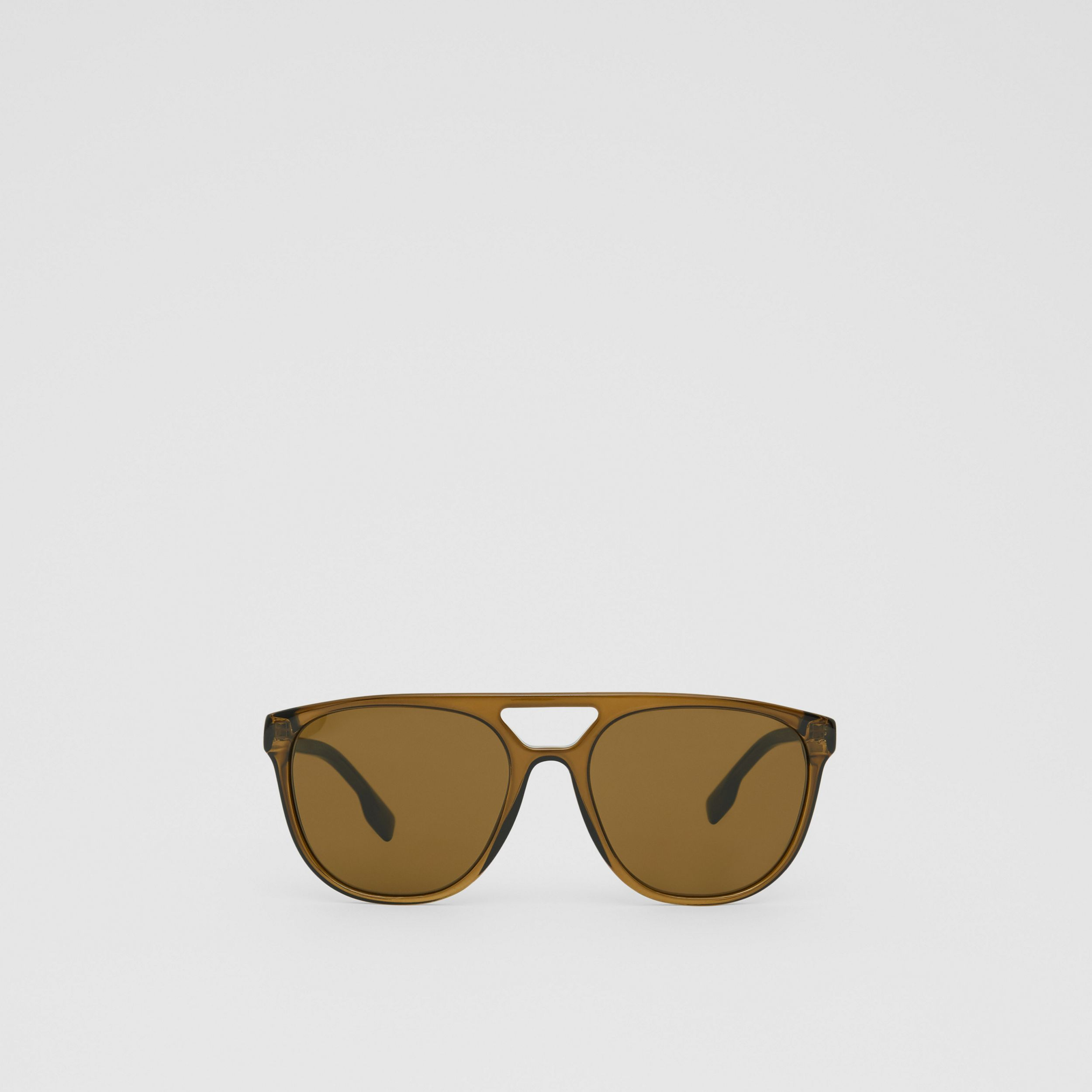 Navigator Sunglasses in Olive Green - Men | Burberry - 1
