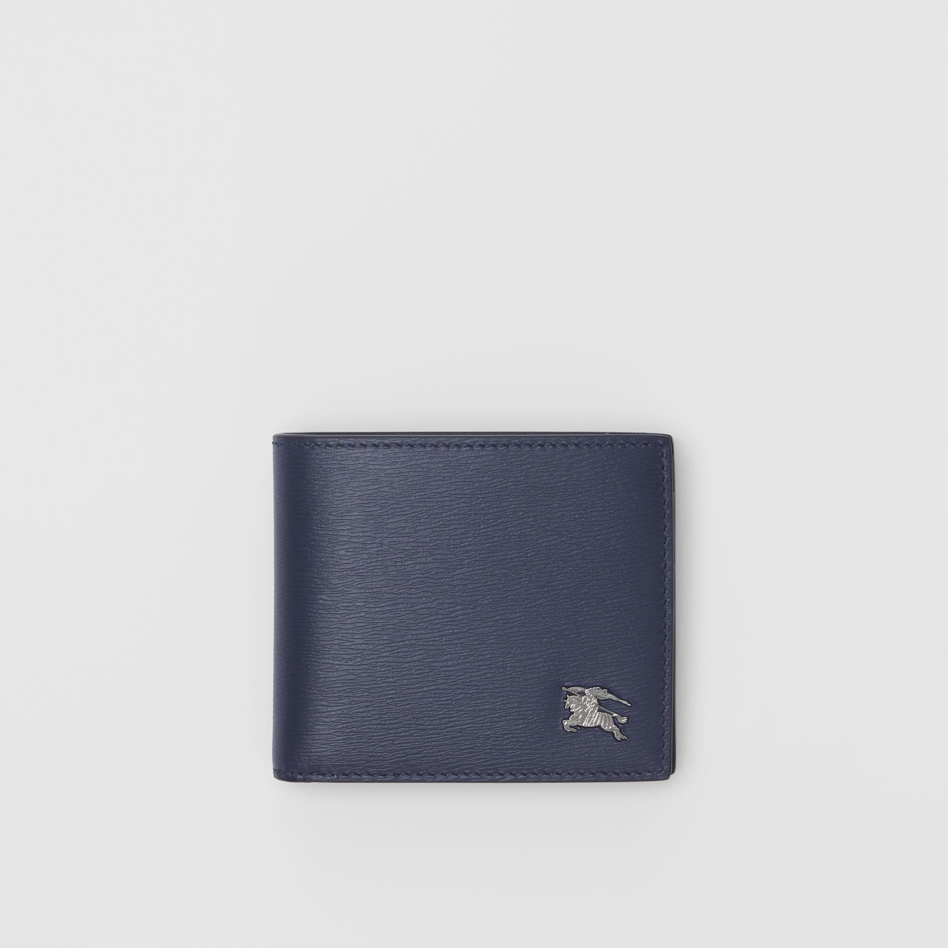 London Leather Bifold Wallet with ID Card Case in Navy - Men | Burberry - gallery image 0