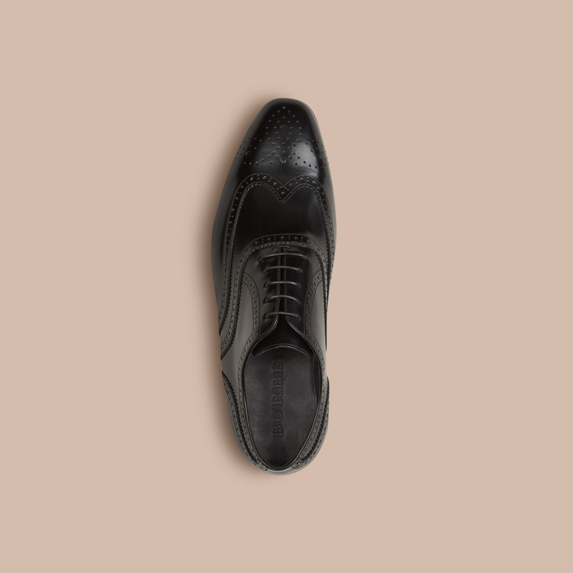 Black Classic Leather Brogues - gallery image 3