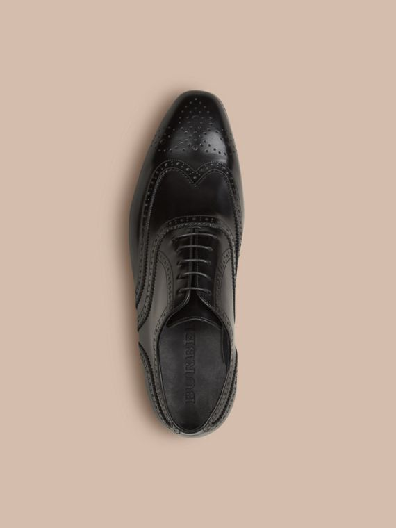 Black Classic Leather Brogues - cell image 2