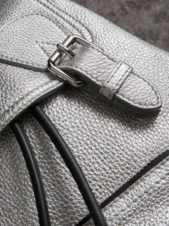 The Medium Rucksack in Metallic Deerskin in Silver - Women | Burberry - cell image 1