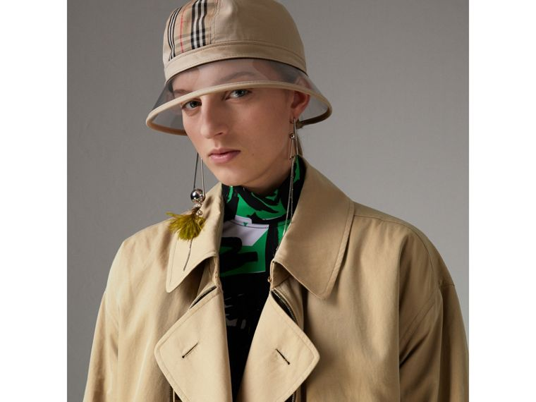 Tropical Gabardine Reconstructed Harrington Jacket in Honey - Women | Burberry - cell image 4