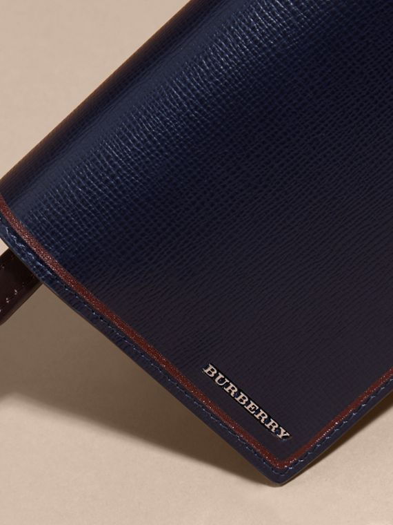 Border Detail London Leather Continental Wallet Dark Navy - cell image 3