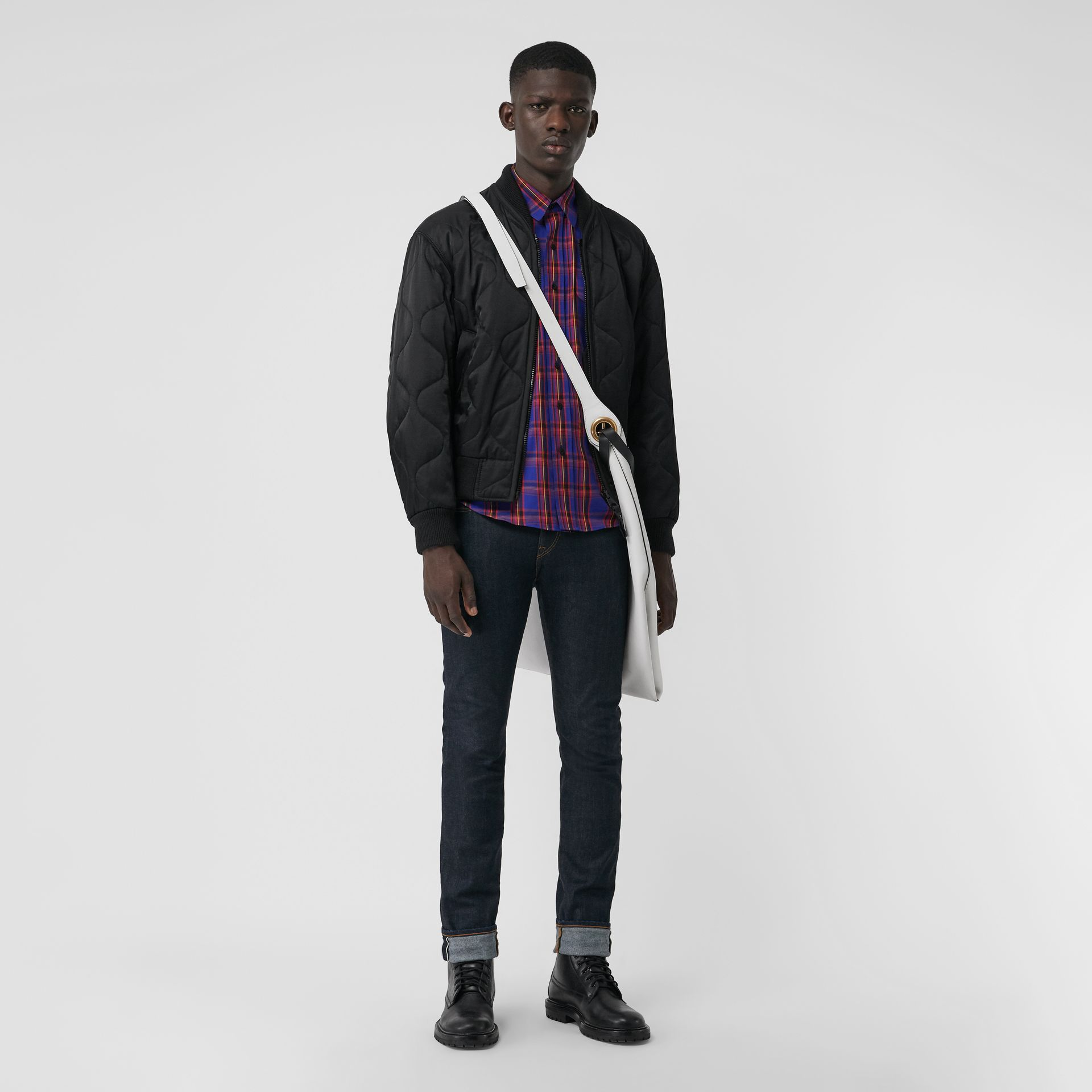Check Cotton Twill Shirt in Bright Blue - Men | Burberry United States - gallery image 0