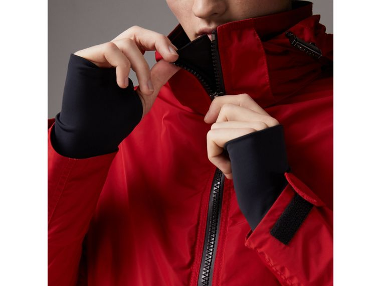 Packaway Hood Shape-memory Taffeta Jacket in Military Red - Men | Burberry - cell image 4