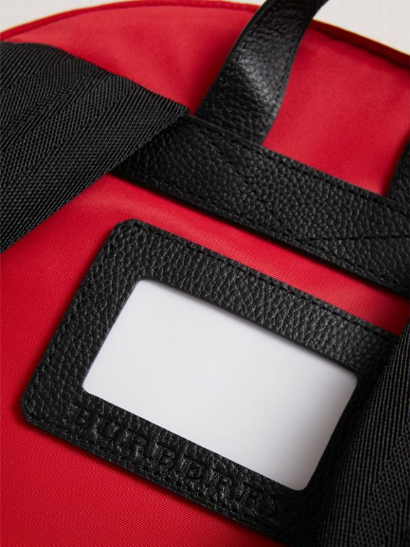 Appliquéd Nylon Backpack in Military Red | Burberry - cell image 1