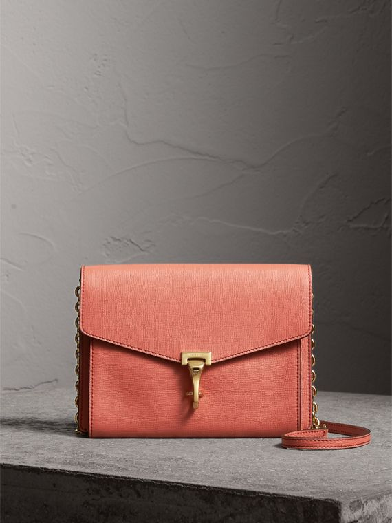 Small Leather Crossbody Bag in Cinnamon Red - Women | Burberry