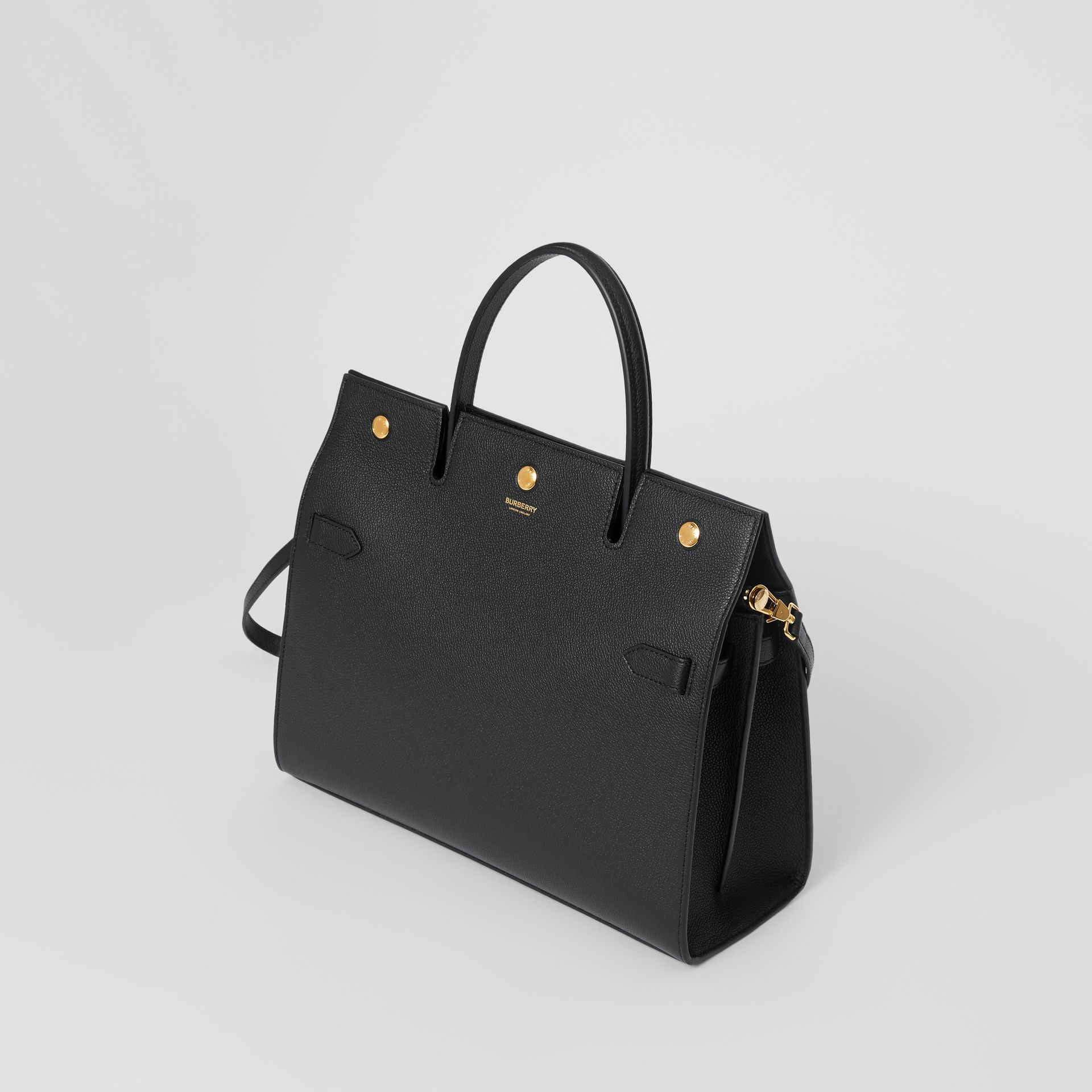 Medium Leather Title Bag in Black - Women | Burberry United Kingdom - gallery image 3