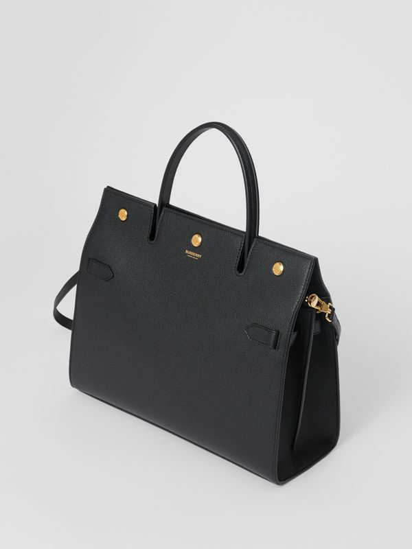 Medium Leather Title Bag in Black - Women | Burberry Singapore - cell image 3