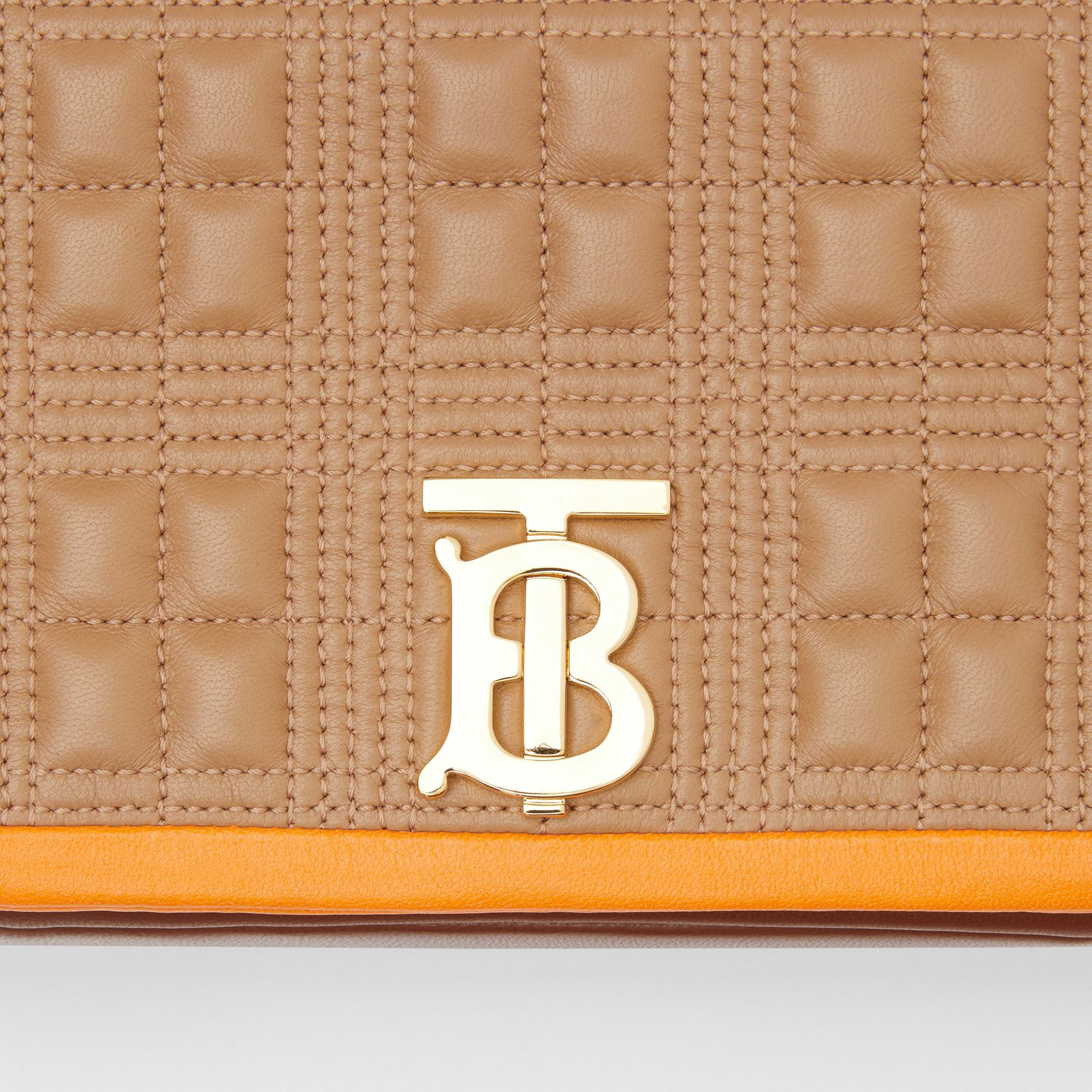 Small Quilted Tri-tone Lambskin Lola Bag in Camel/bright Orange - Women | Burberry - gallery image 1