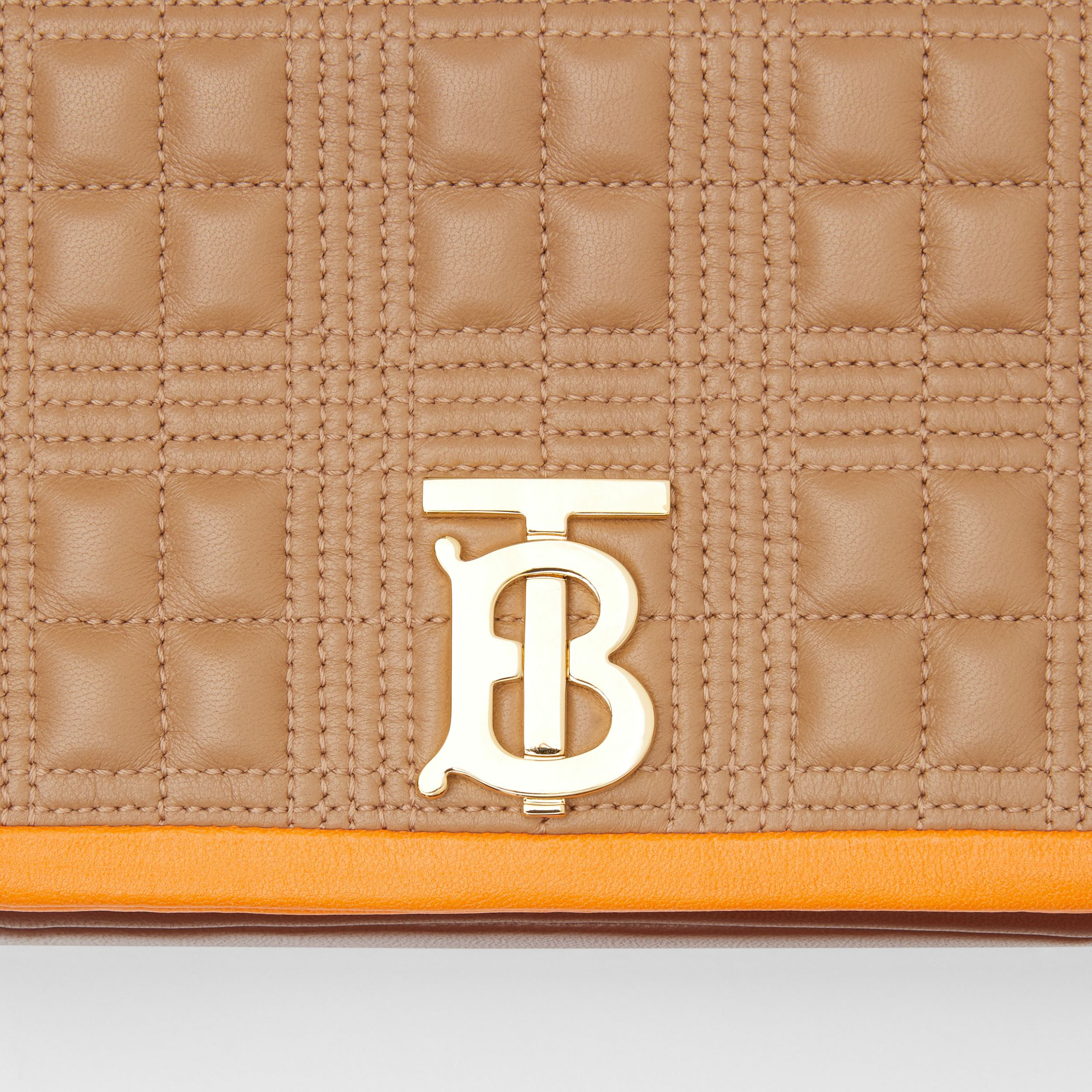 Small Quilted Tri-tone Lambskin Lola Bag in Camel/bright Orange - Women | Burberry - 2