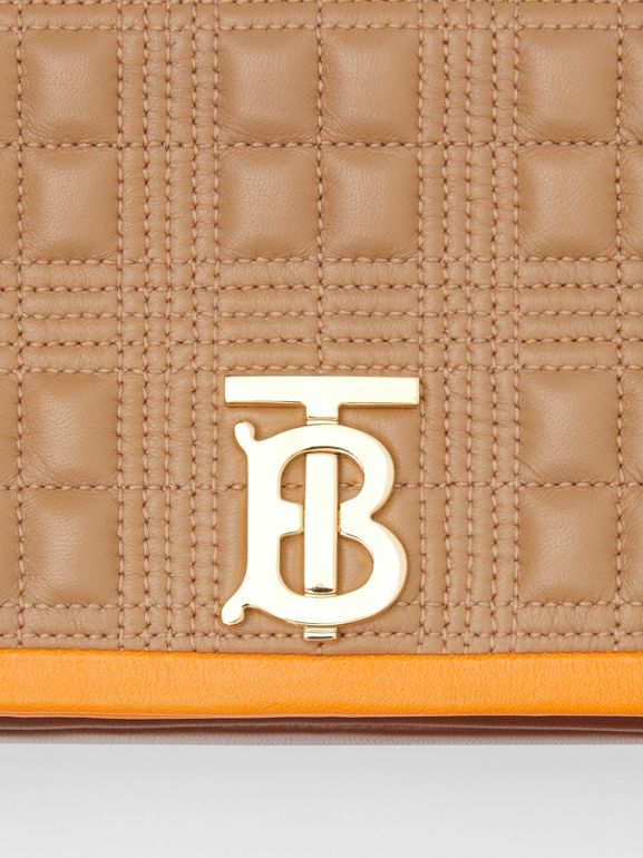 Small Quilted Tri-tone Lambskin Lola Bag in Camel/bright Orange - Women | Burberry - cell image 1