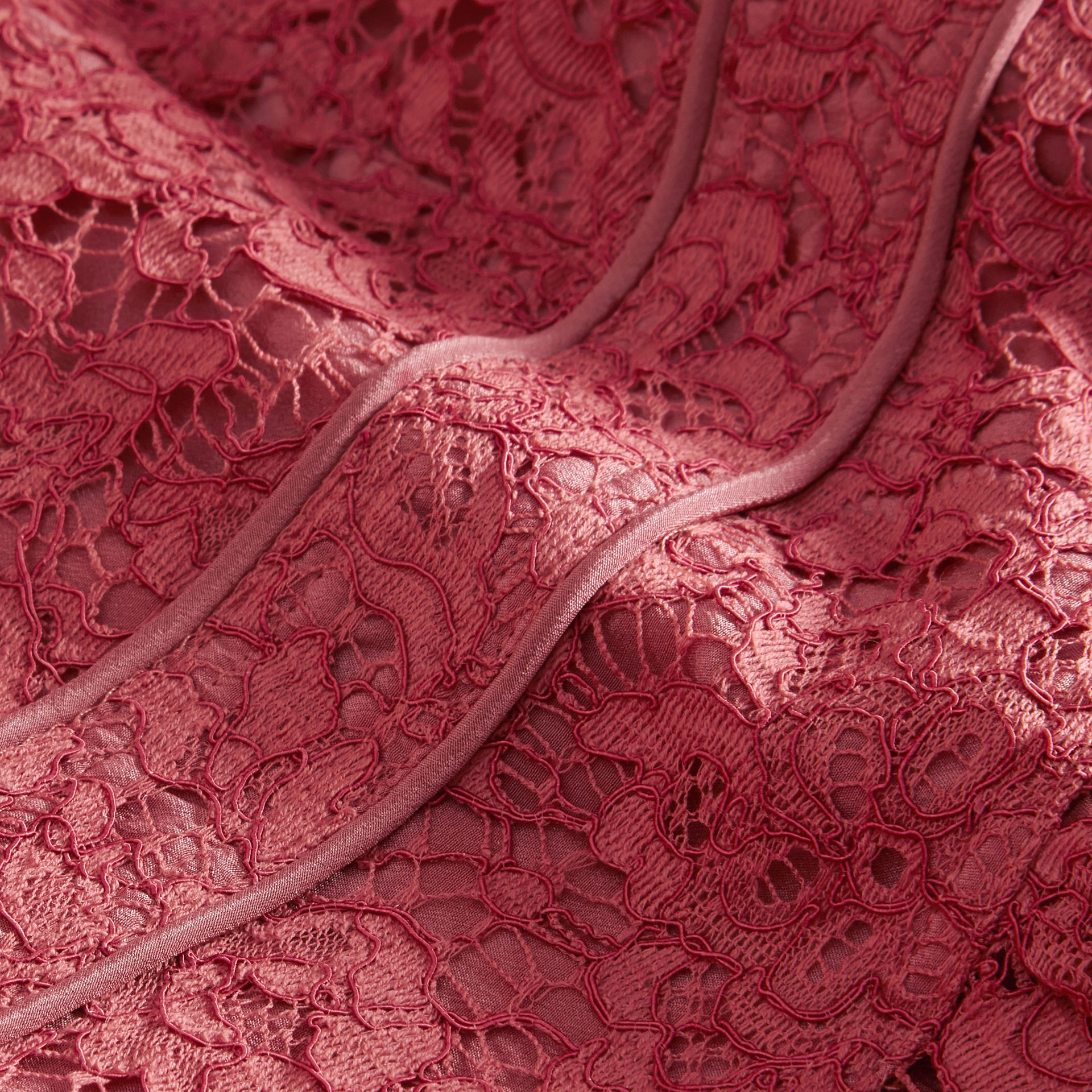 Cap Sleeve Macramé Lace Dress in Pink Azalea - Girl | Burberry - gallery image 2