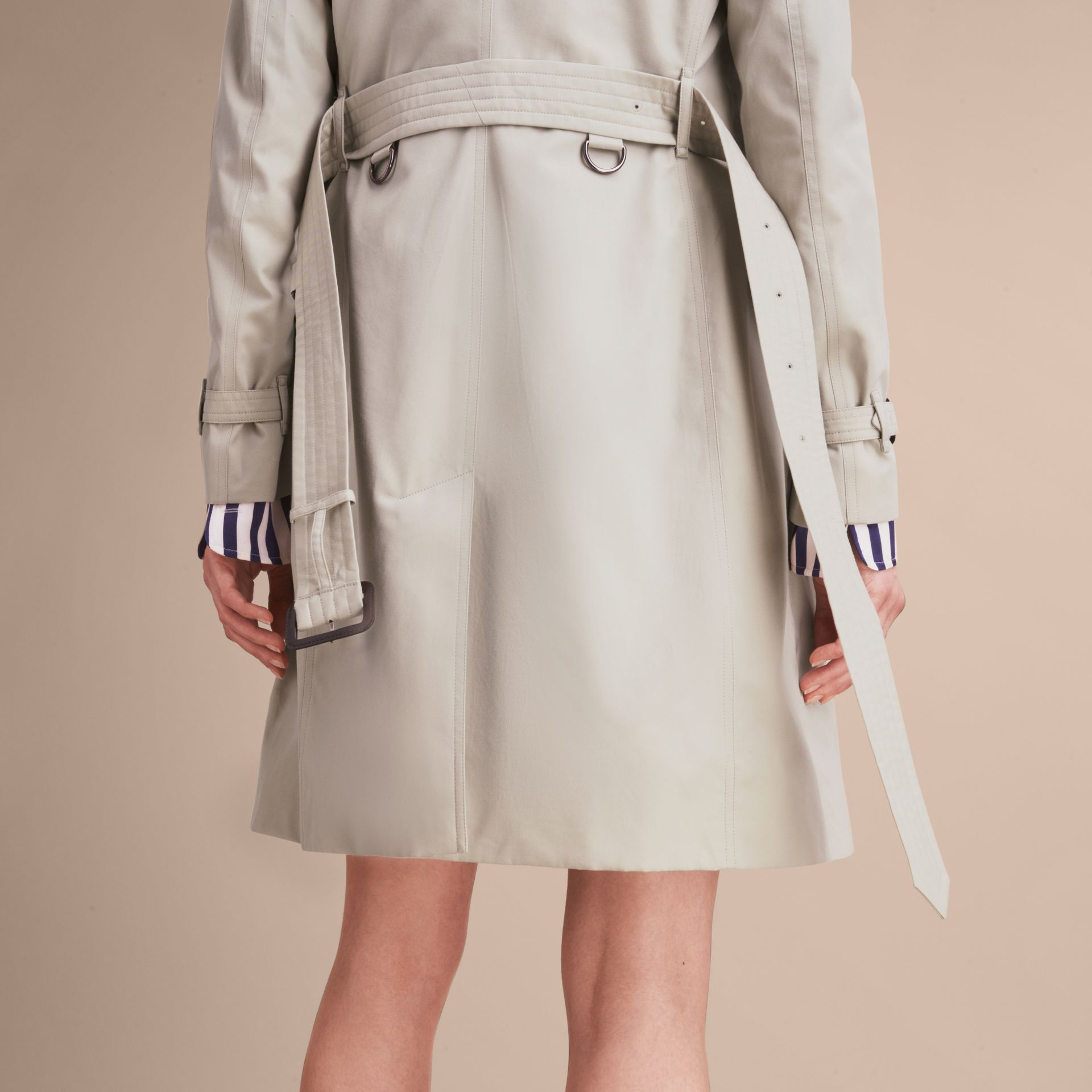 Stone The Kensington – Long Heritage Trench Coat Stone - gallery image 6