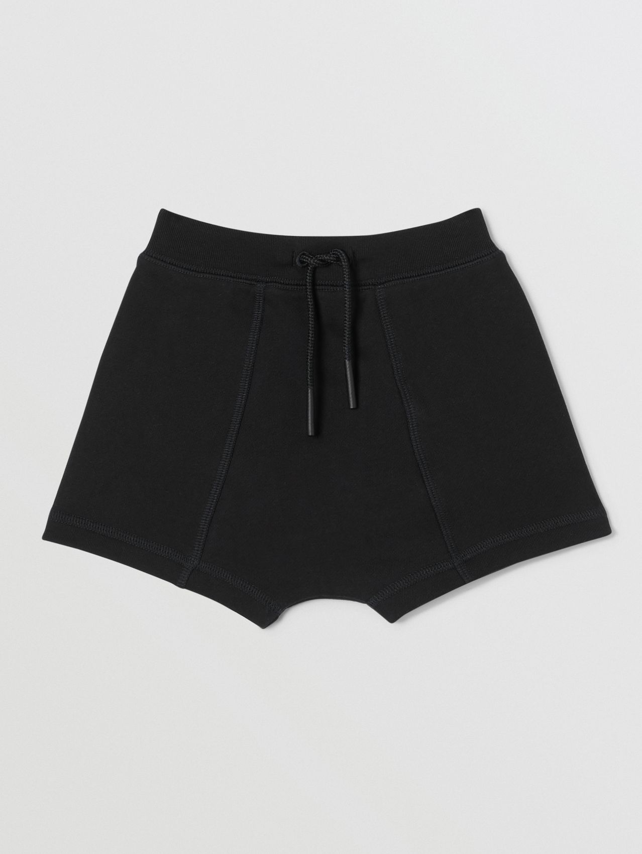 Logo Tape Cotton Drawcord Shorts (Black)