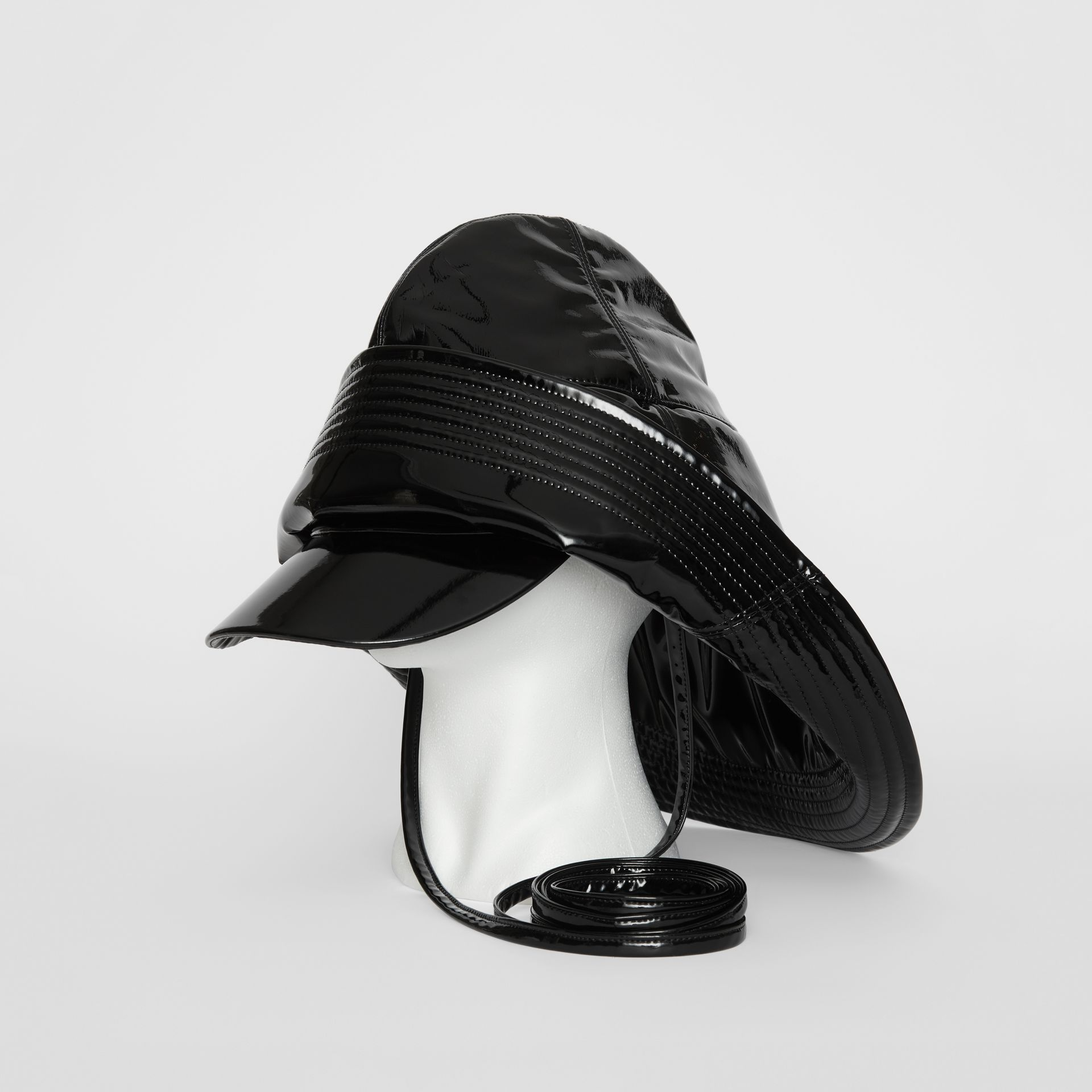 Logo Print Rain Hat in Black | Burberry United Kingdom - gallery image 0