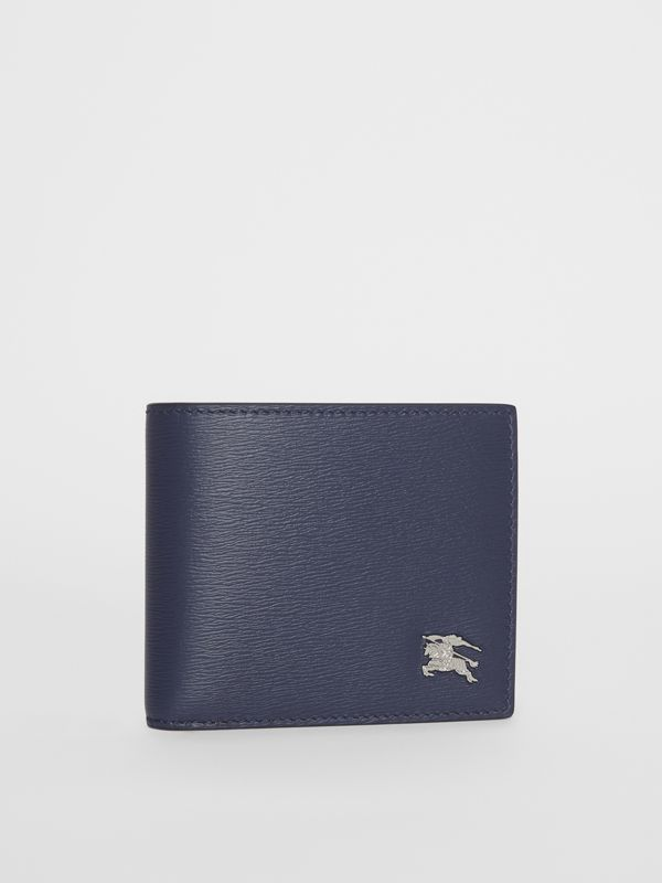 London Leather Bifold Wallet with ID Card Case in Navy - Men | Burberry Singapore - cell image 3