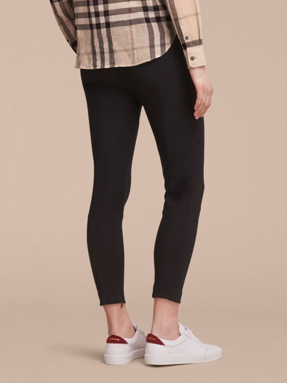 Cropped Slim Fit Trousers in Black - Women | Burberry - cell image 2
