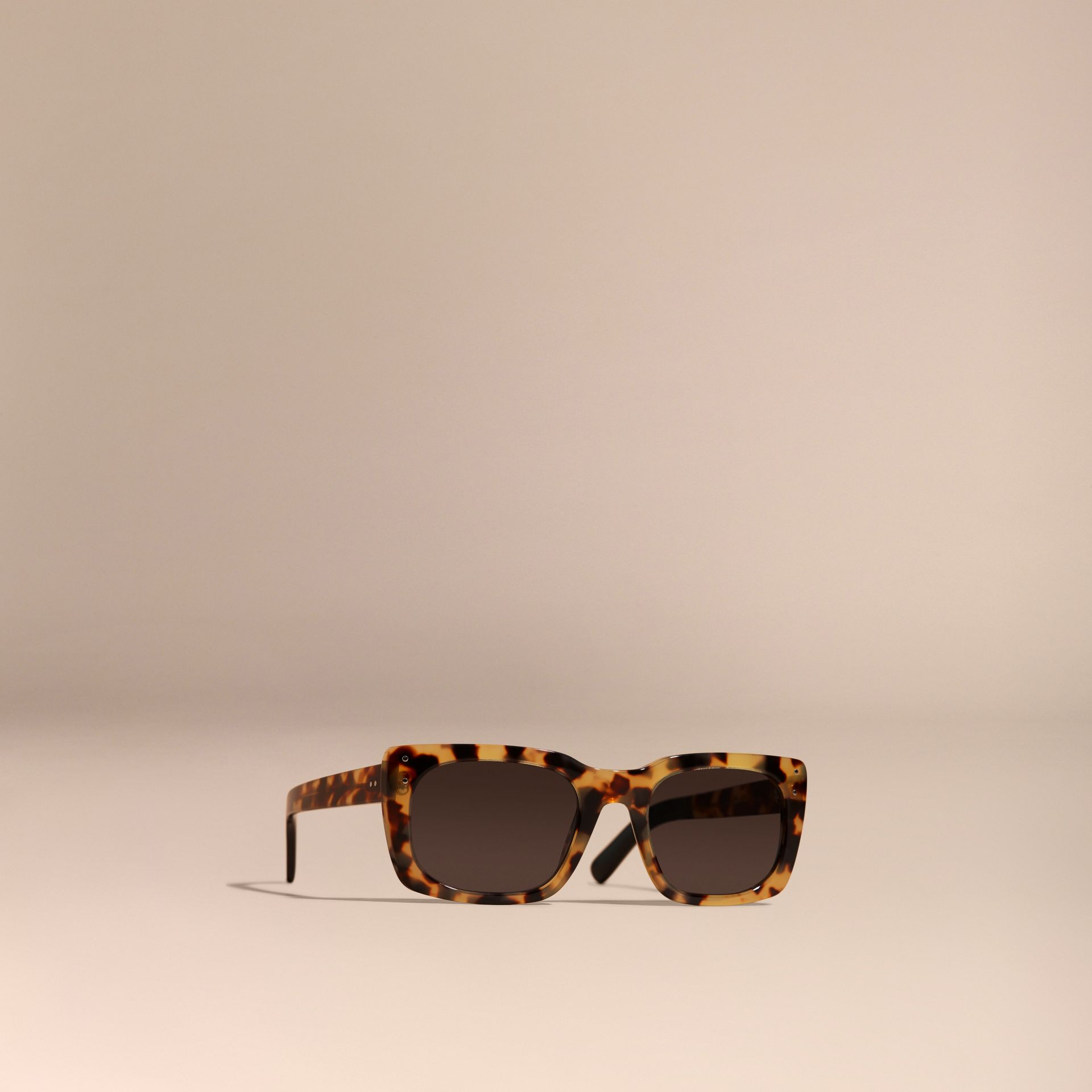 Ambra tartarugato Occhiali da sole con montatura quadrata Ambra Tartarugato - immagine della galleria 1