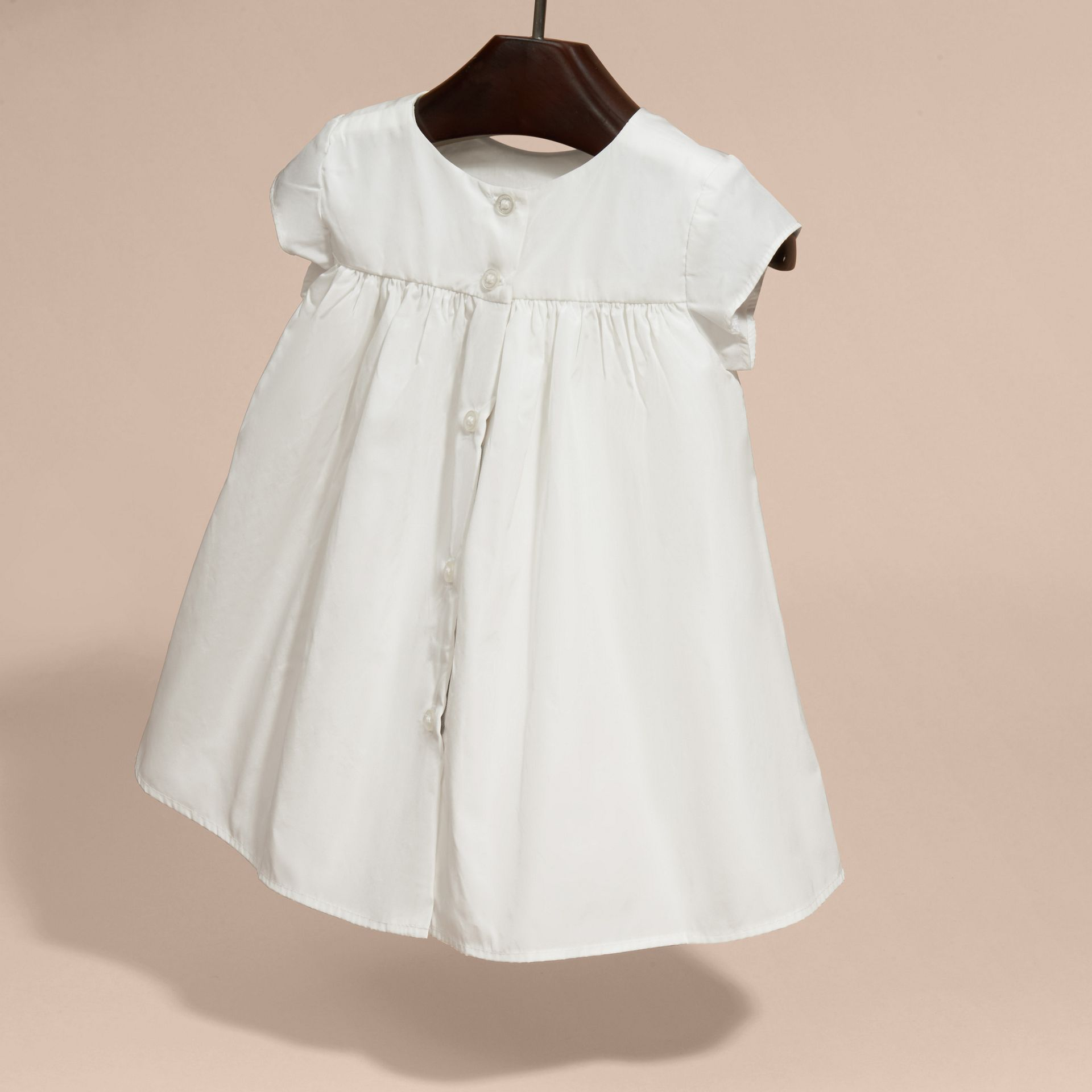 White Embroidered Taffeta Dress with Bloomers - gallery image 4