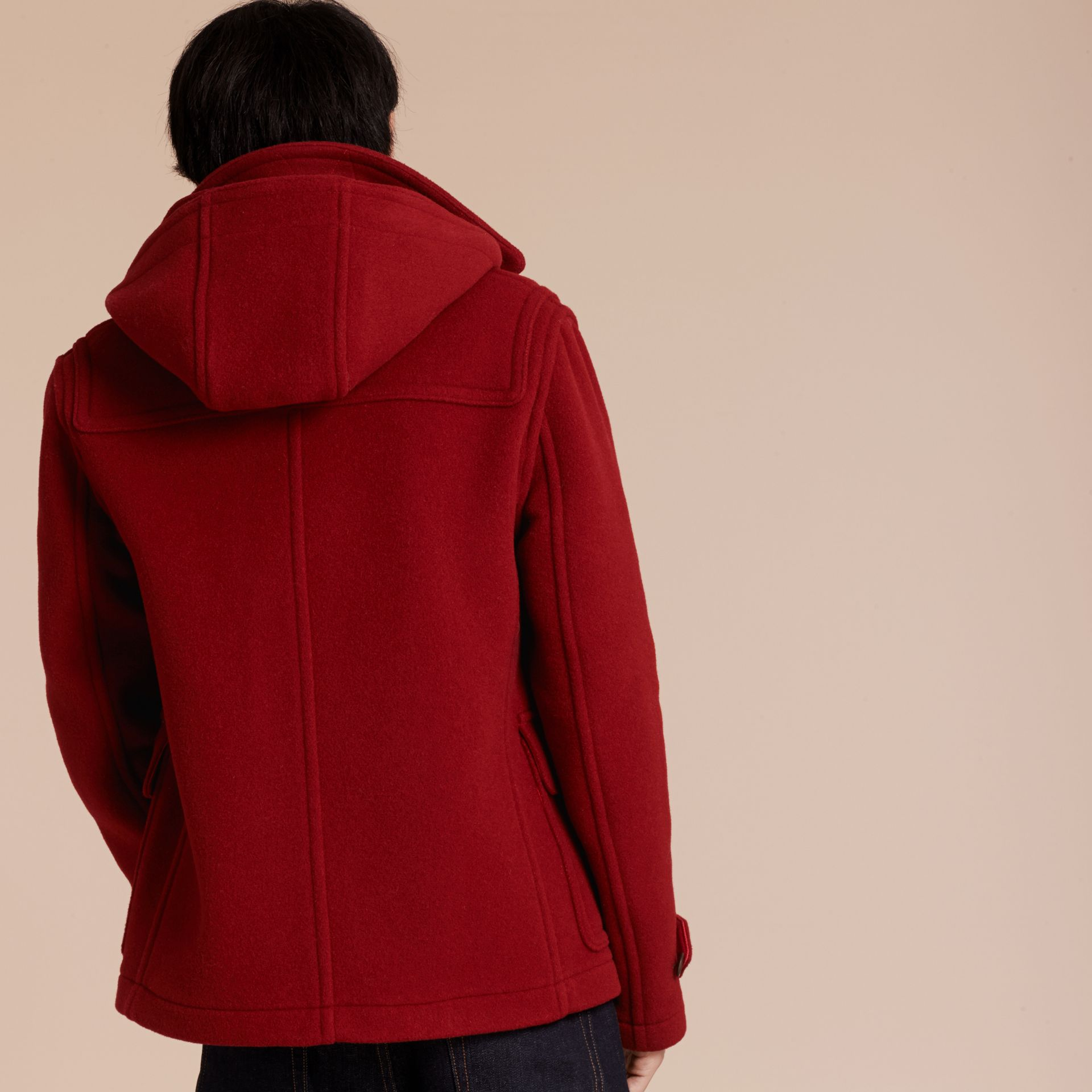 Parade red Wool Detachable Hood Duffle Jacket - gallery image 3