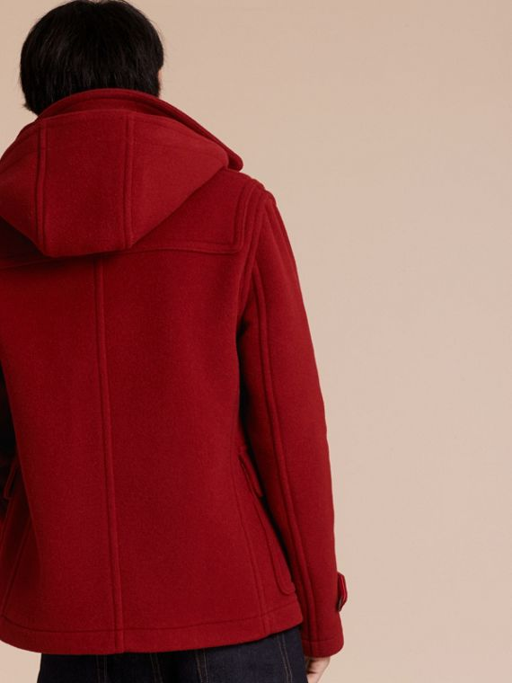 Parade red Wool Detachable Hood Duffle Jacket - cell image 2