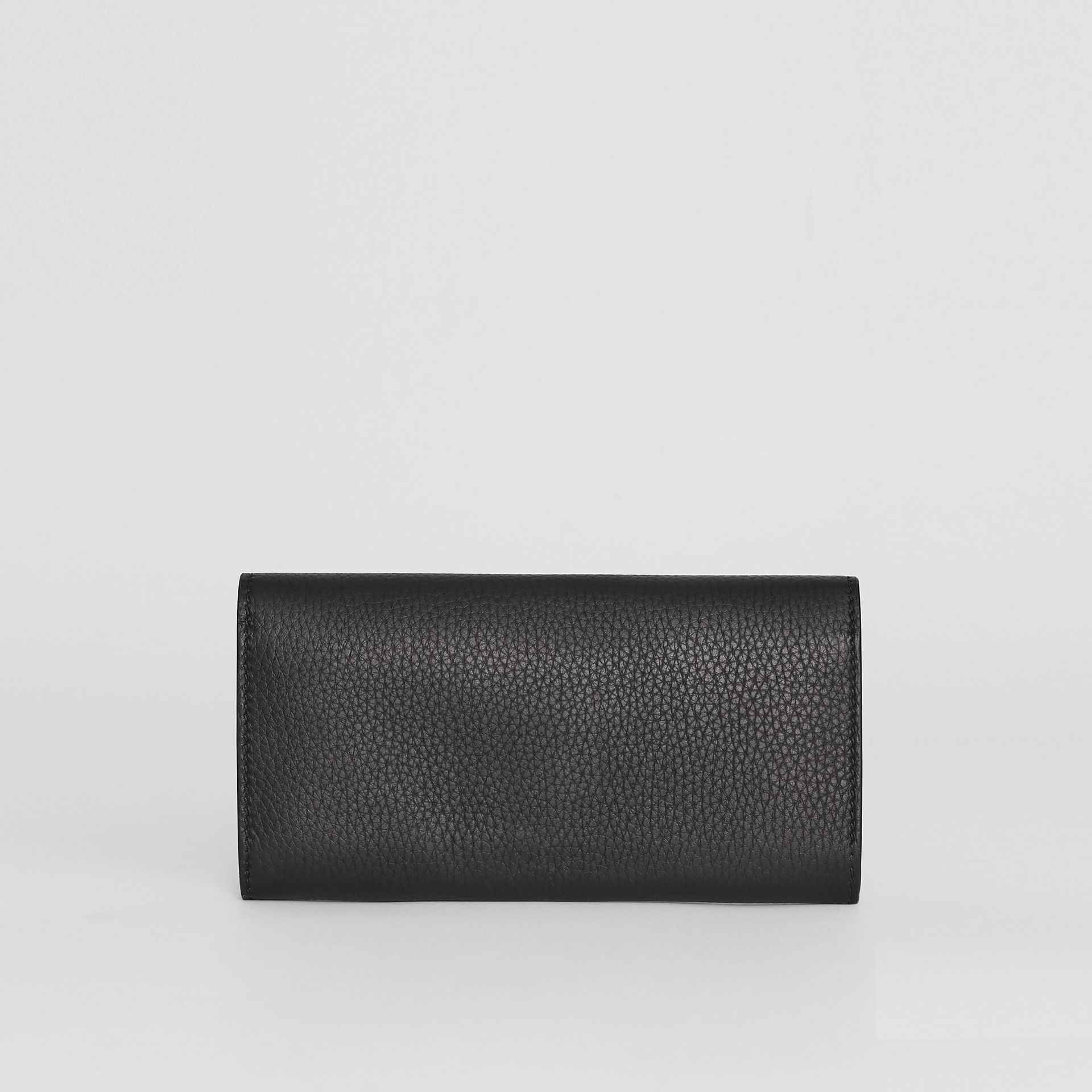 Embossed Leather Continental Wallet in Black - Women | Burberry - gallery image 2