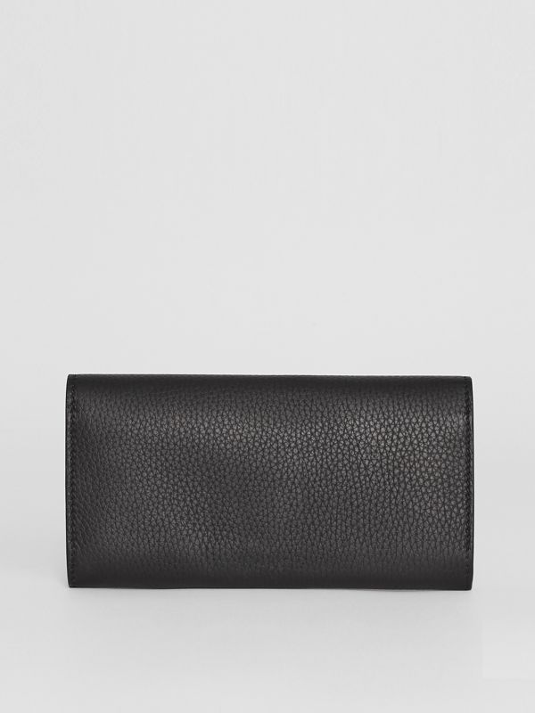 Embossed Leather Continental Wallet in Black - Women | Burberry - cell image 2