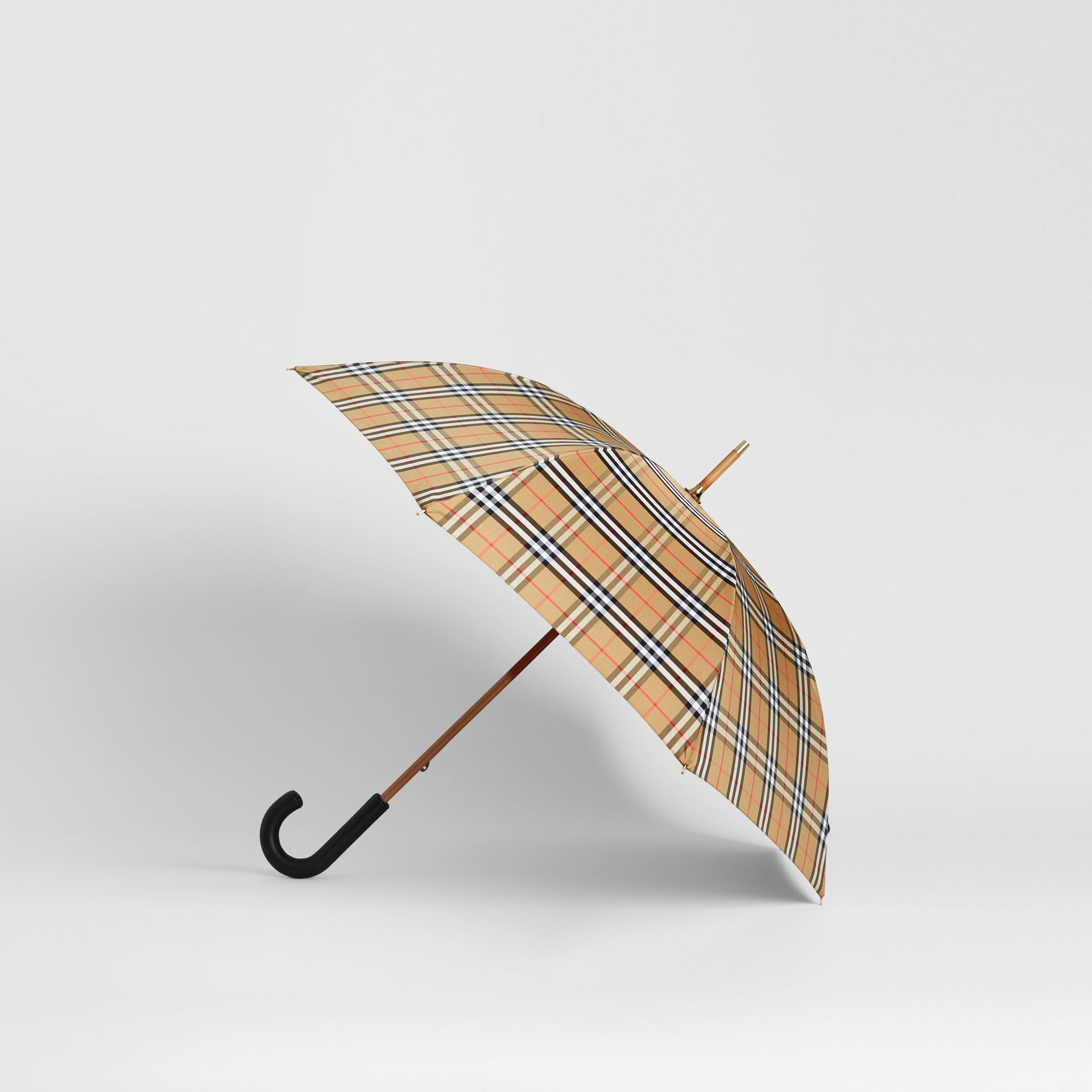 Vintage Check Walking Umbrella in Antique Yellow/black | Burberry Australia - gallery image 4