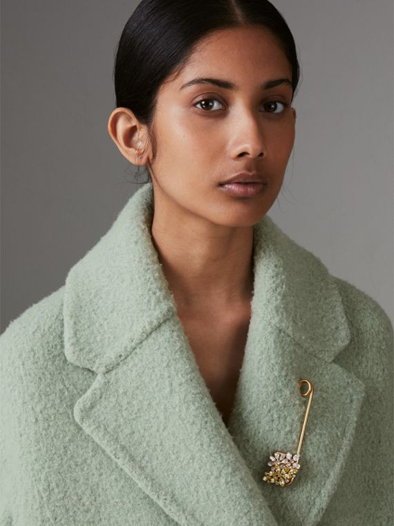 Crystal Daisy Oversized Pin in Iris Yellow - Women | Burberry United Kingdom - cell image 2