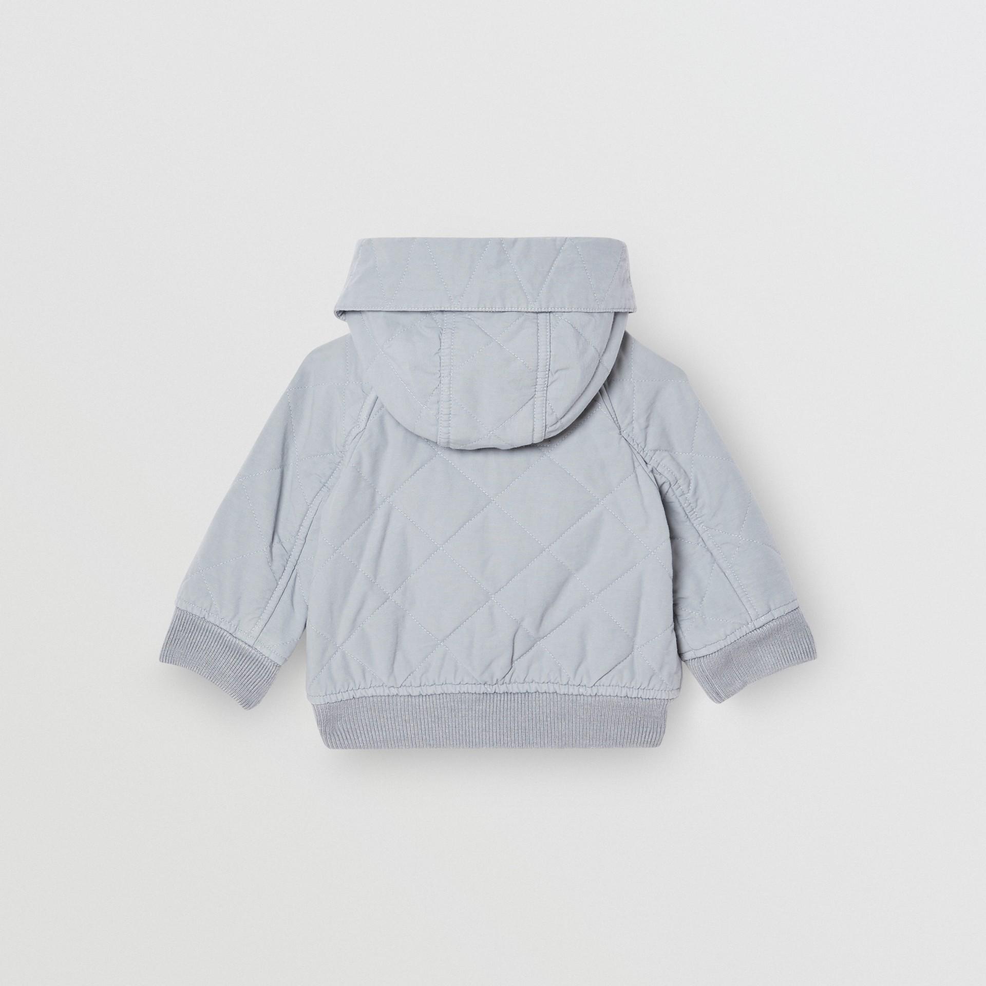 Giacca con cappuccio trapuntata in cotone (Blu Polvere) - Bambini | Burberry - immagine della galleria 4