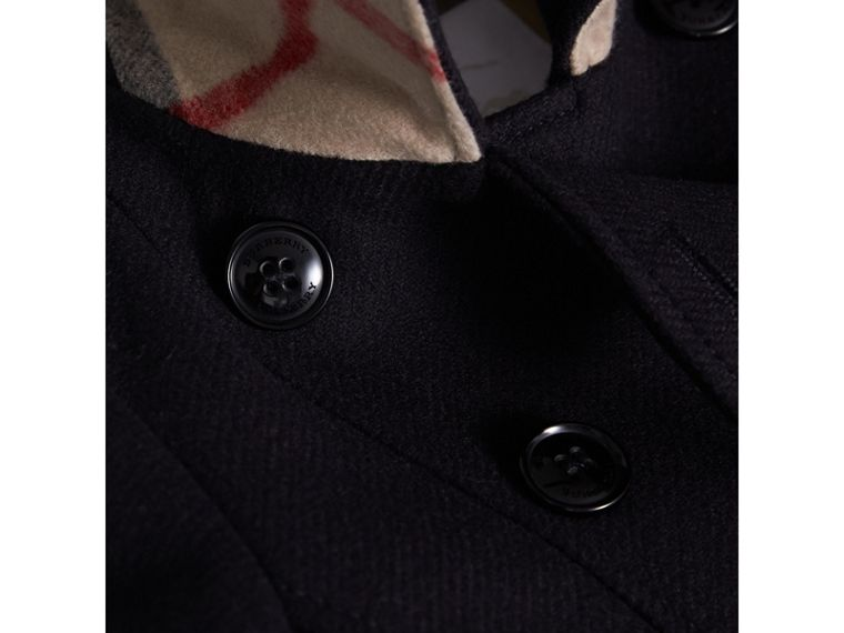 Technical Wool Cashmere Double-Breasted Coat in Navy - Girl | Burberry - cell image 1