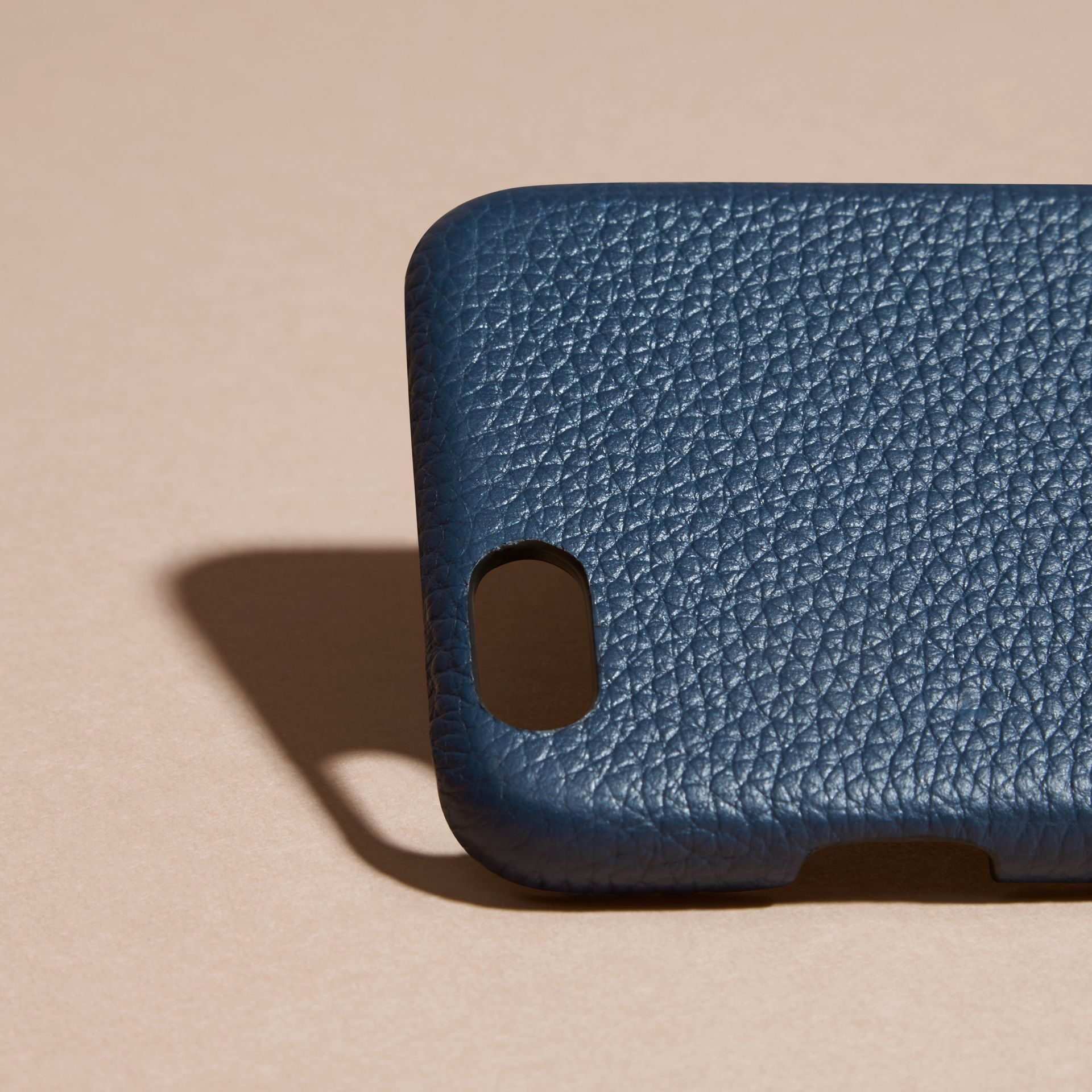Grainy Leather iPhone 6 Case in Bright Navy | Burberry - gallery image 2