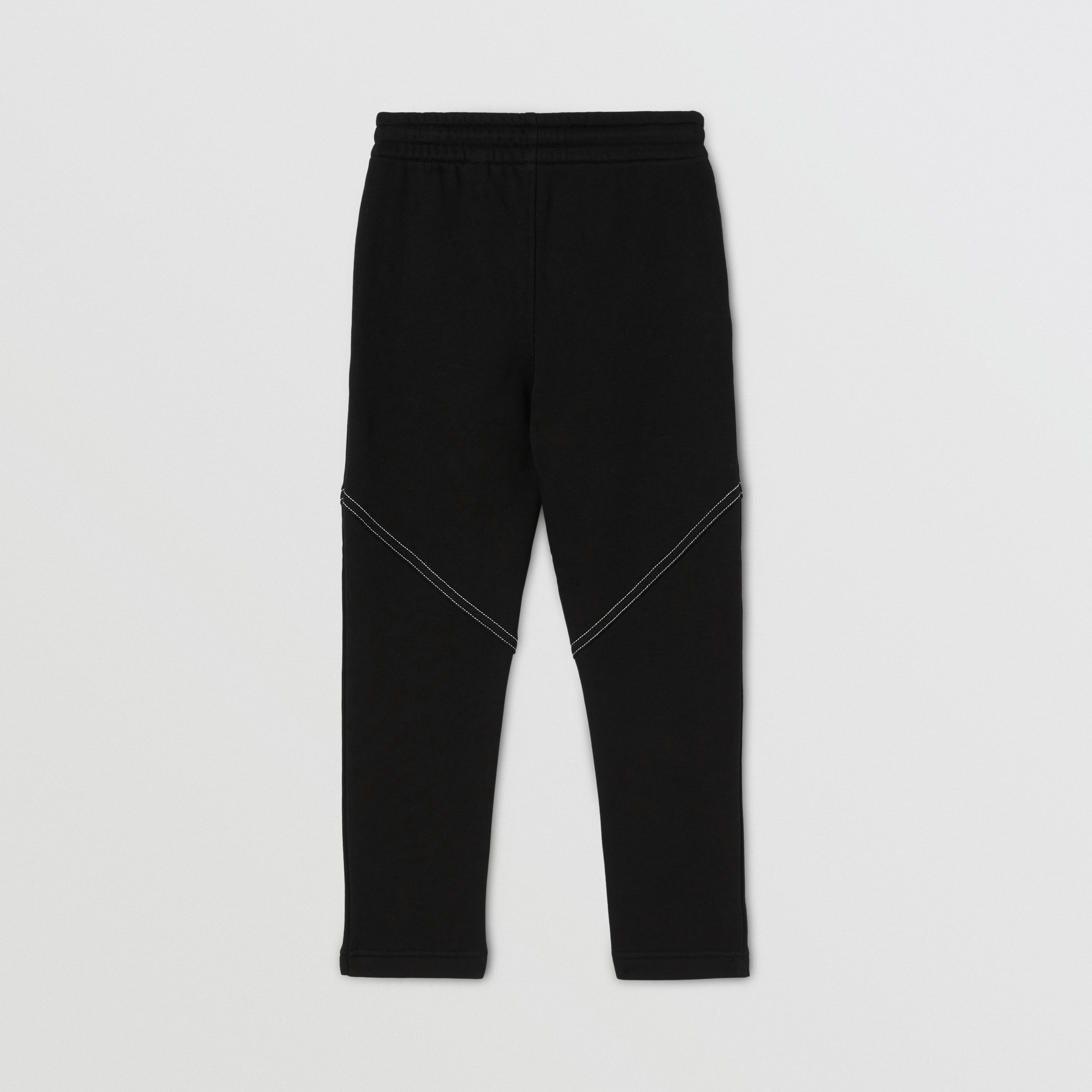 Logo Print Cotton Jogging Pants in Black | Burberry - 4