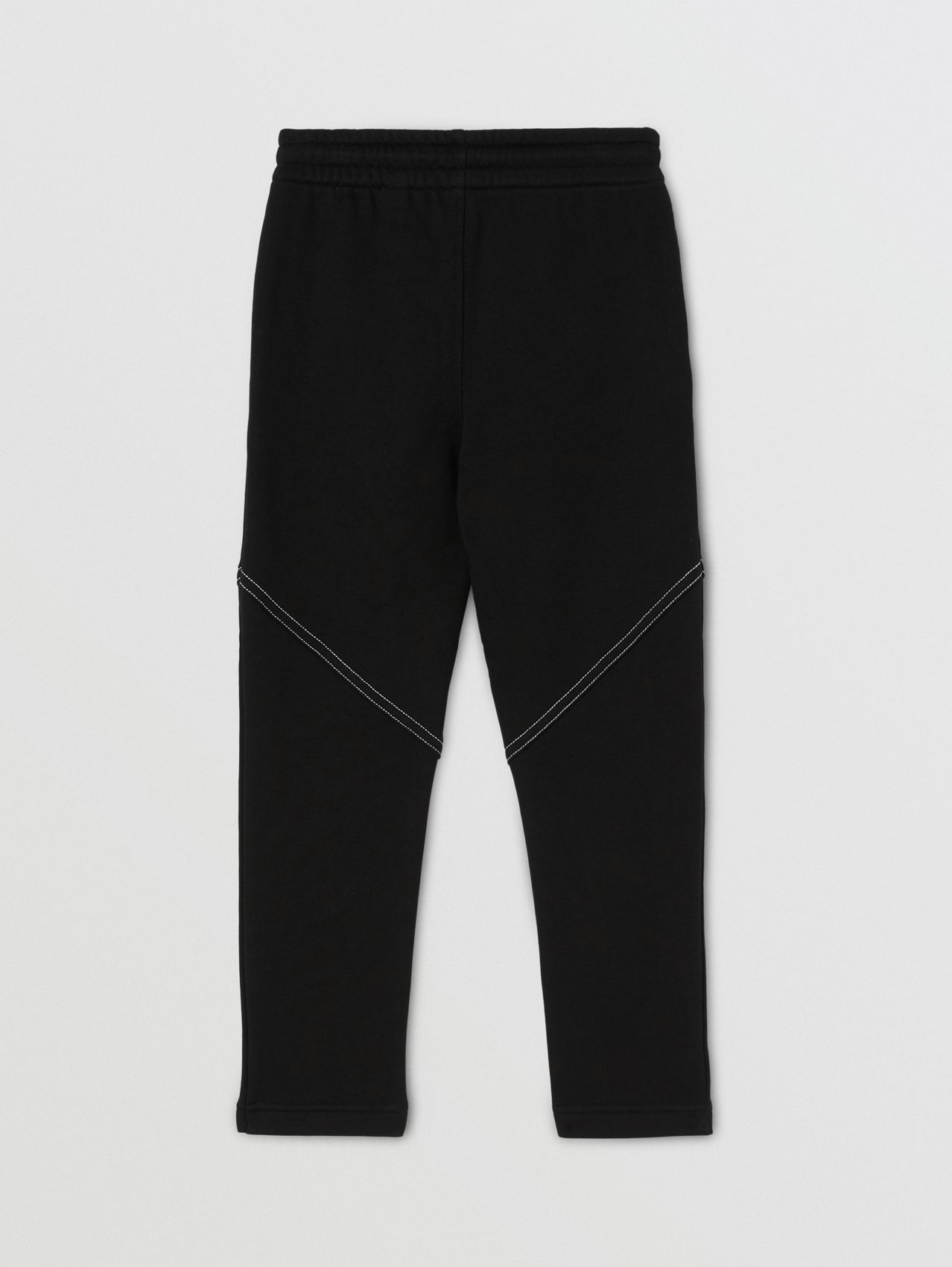 Logo Print Cotton Jogging Pants in Black