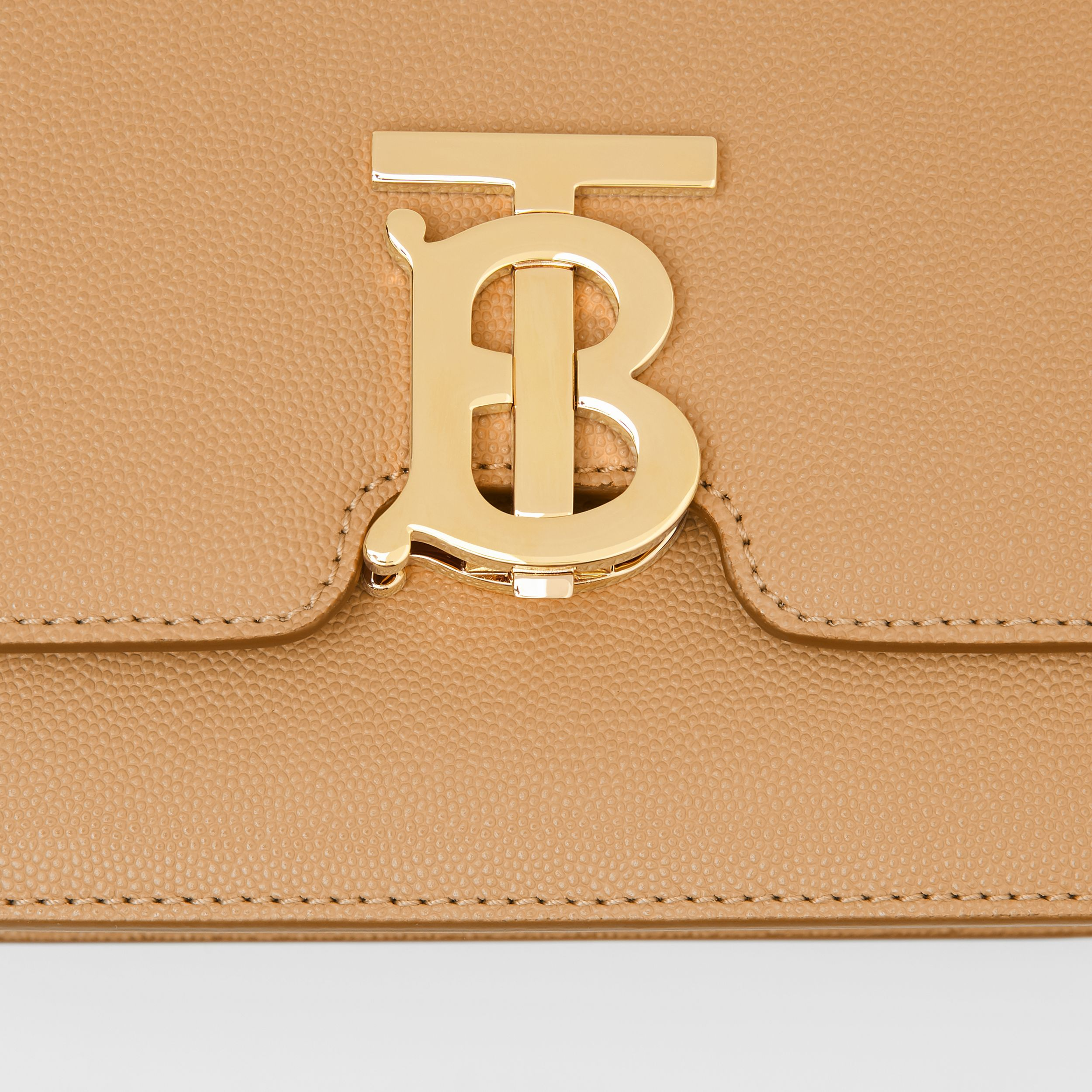 Small Grainy Leather TB Bag in Archive Beige - Women | Burberry Australia - 2