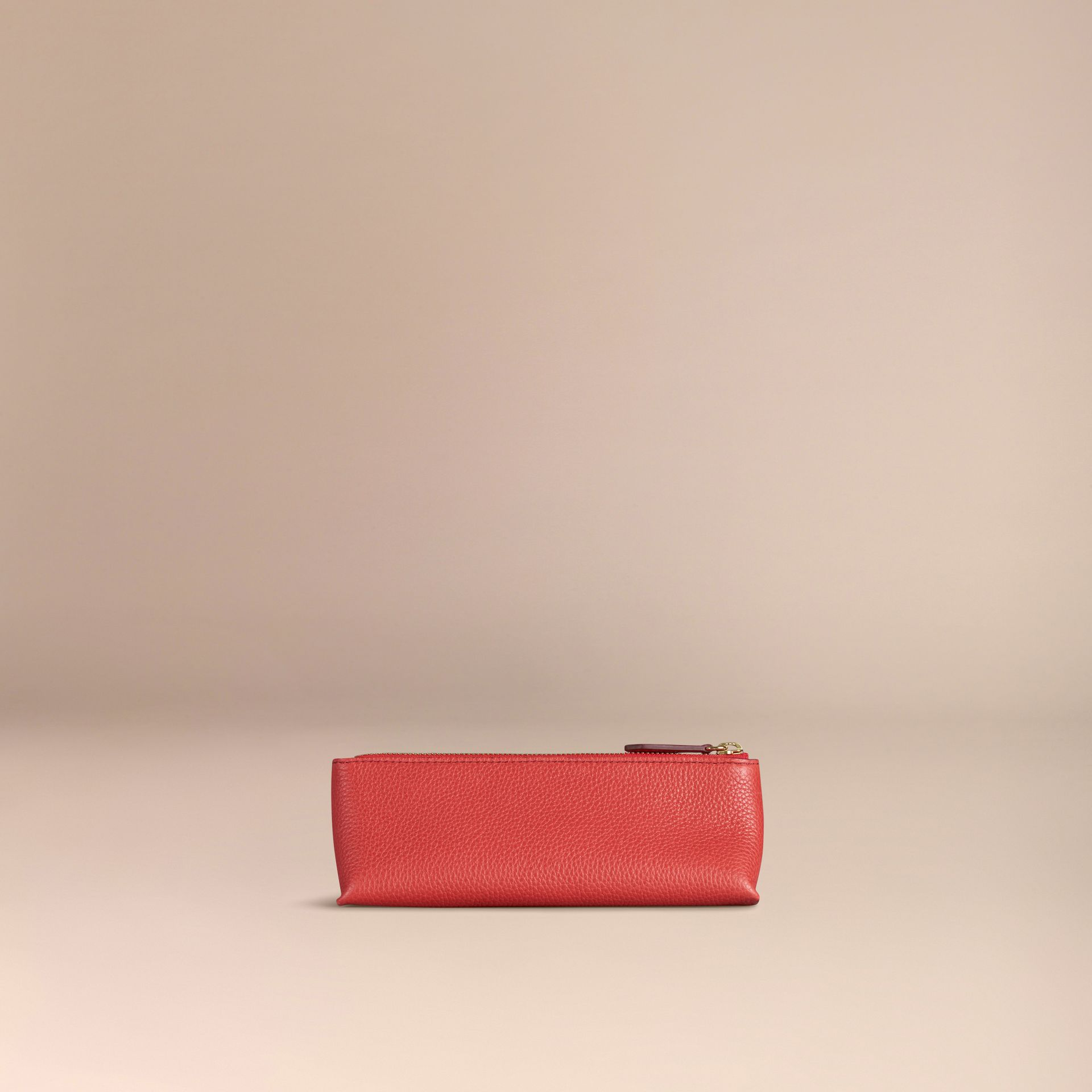 Orange red Small Grainy Leather Digital Accessory Pouch Orange Red - gallery image 4