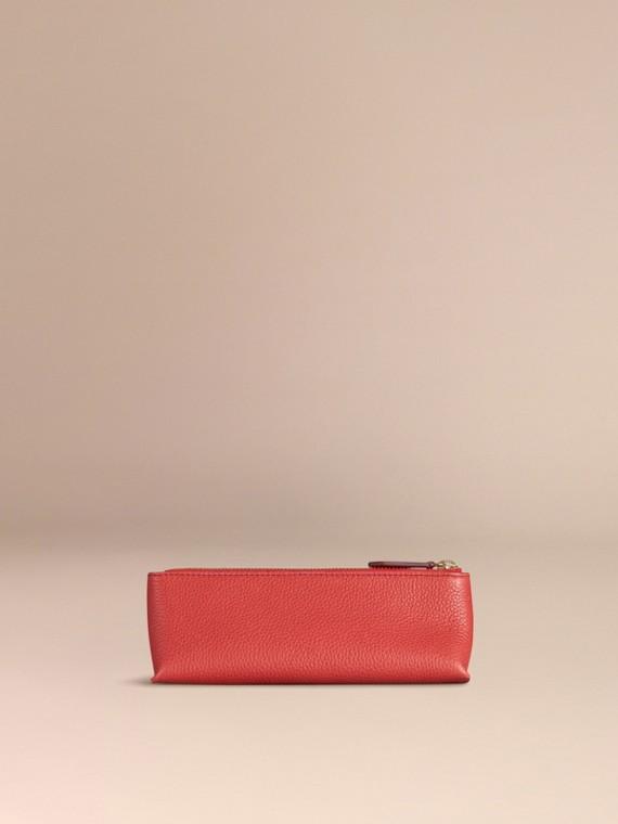 Rouge orangé Petite pochette pour accessoires numériques en cuir grainé Rouge Orangé - cell image 3