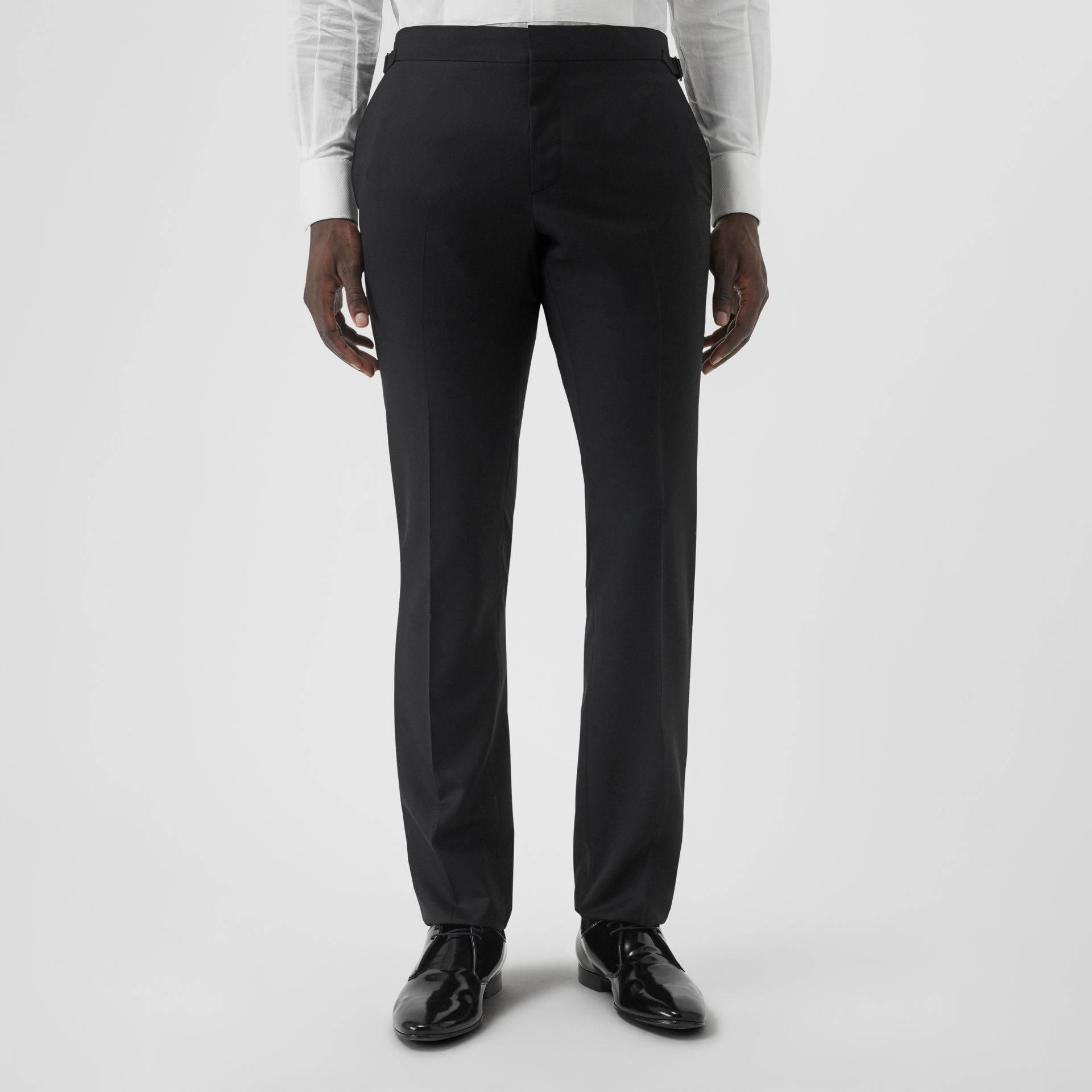 Classic Fit Wool Silk Tuxedo in Black - Men | Burberry - gallery image 6