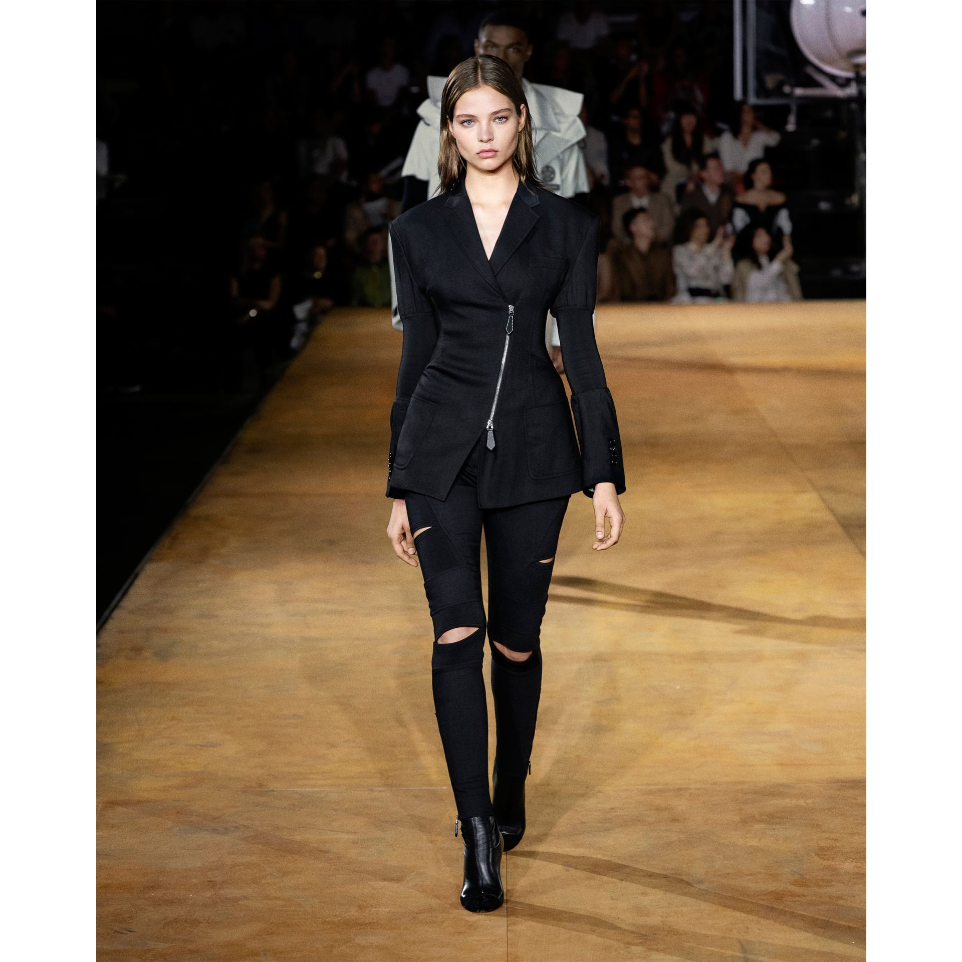 Technical Twill Reconstructed Blazer in Black - Women | Burberry - gallery image 8