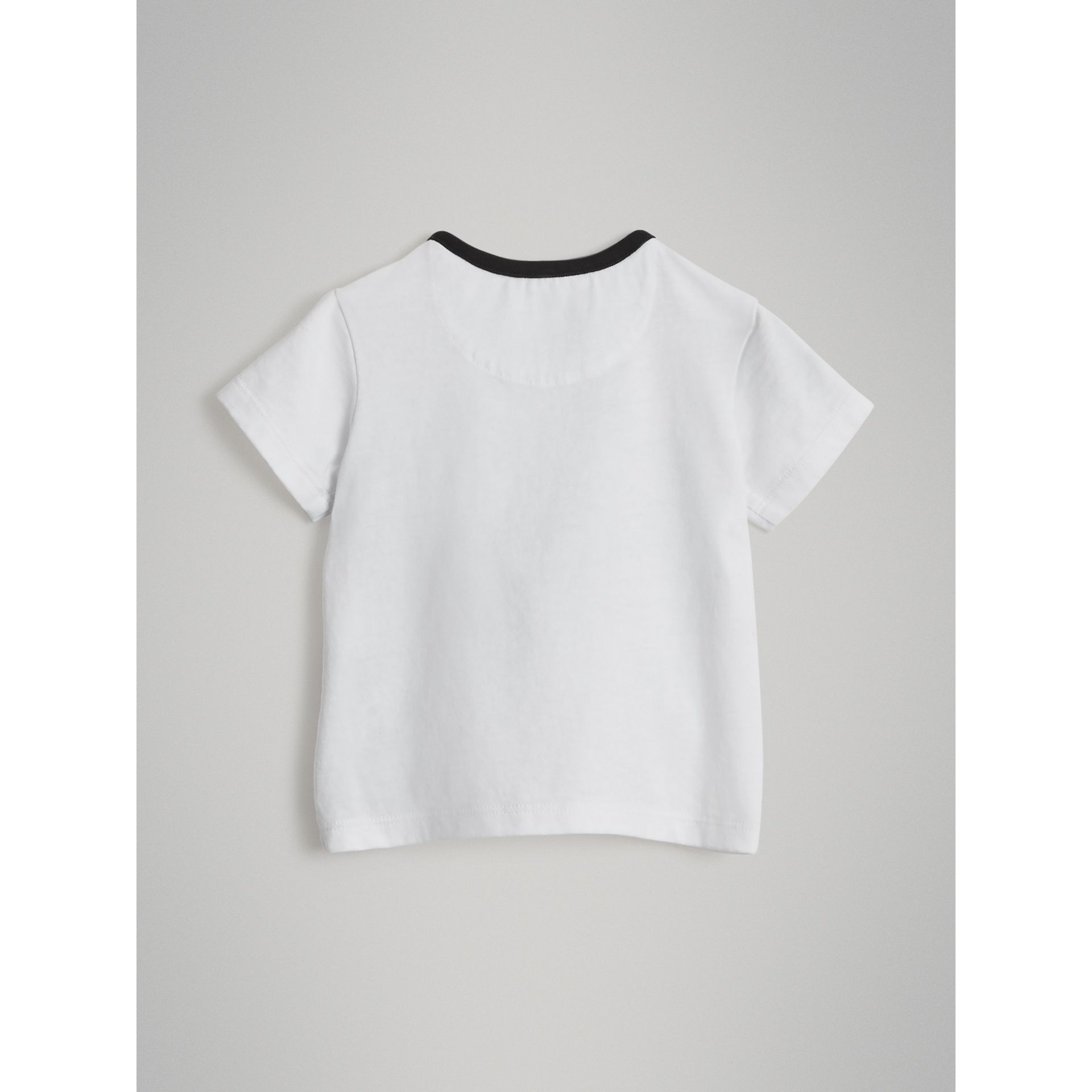 Pigeon Graphic Cotton T-shirt in White - Children | Burberry - gallery image 3