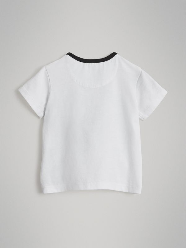 Pigeon Graphic Cotton T-shirt in White - Children | Burberry - cell image 3