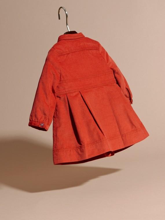 Rosso arancione Abito chemisier in corduroy di cotone Rosso Arancione - cell image 3