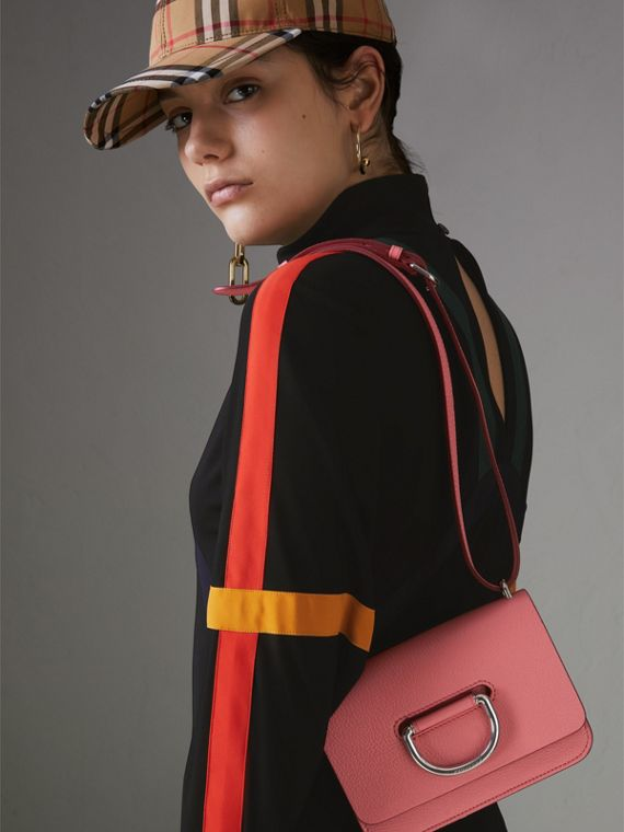 The Mini Leather D-Ring Bag in Bright Coral Pink - Women | Burberry - cell image 3