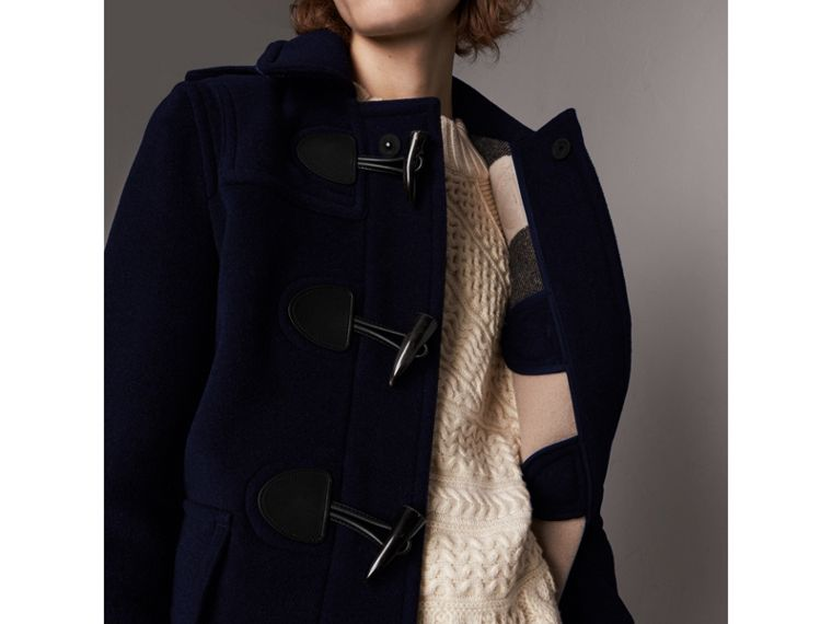 The Plymouth Duffle Coat in Navy - Men | Burberry - cell image 1