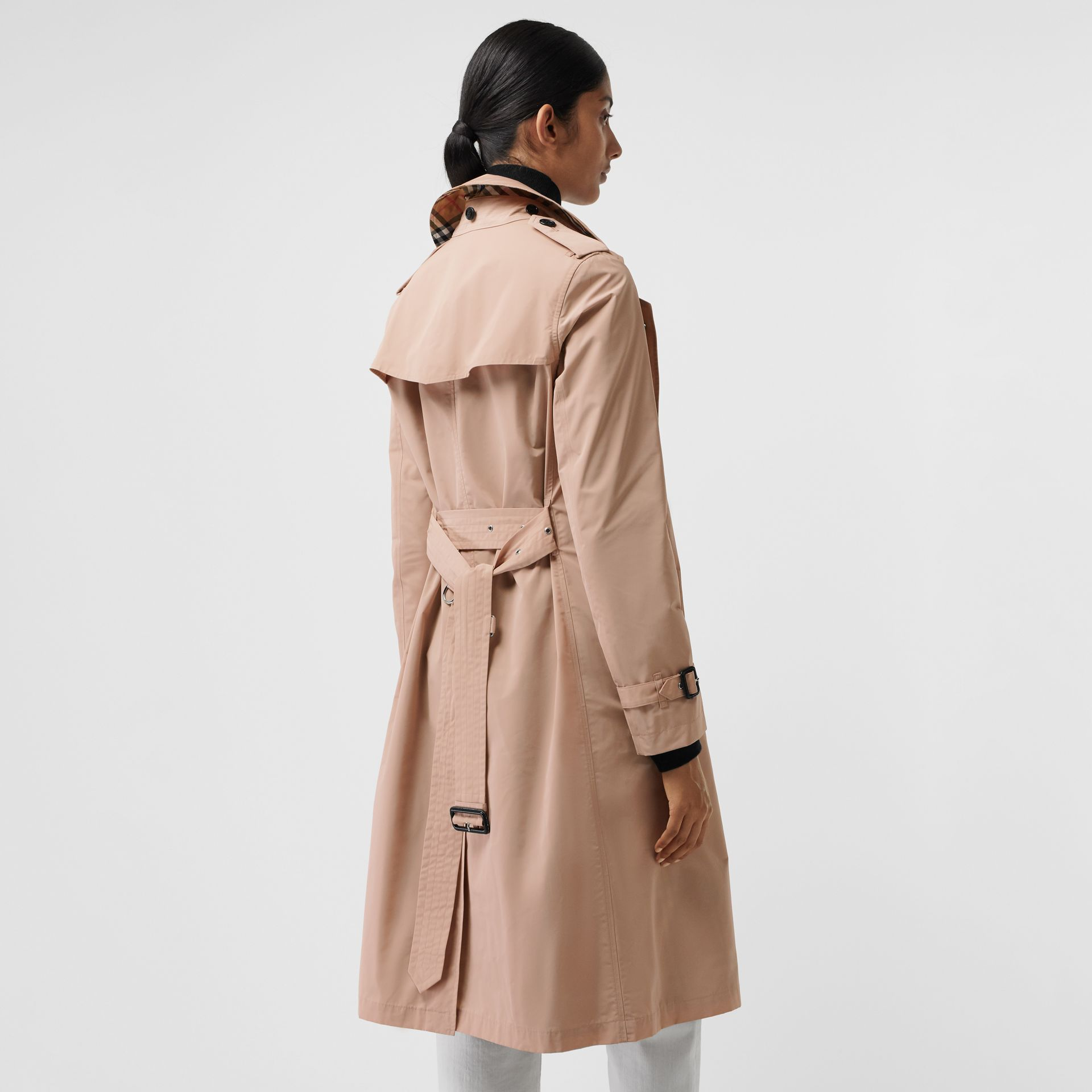 Detachable Hood Taffeta Trench Coat in Chalk Pink - Women | Burberry - gallery image 2