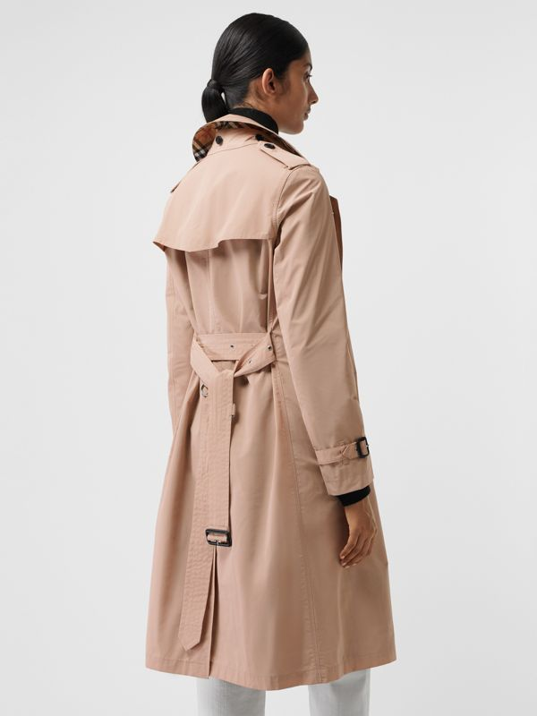 Detachable Hood Taffeta Trench Coat in Chalk Pink - Women | Burberry - cell image 2