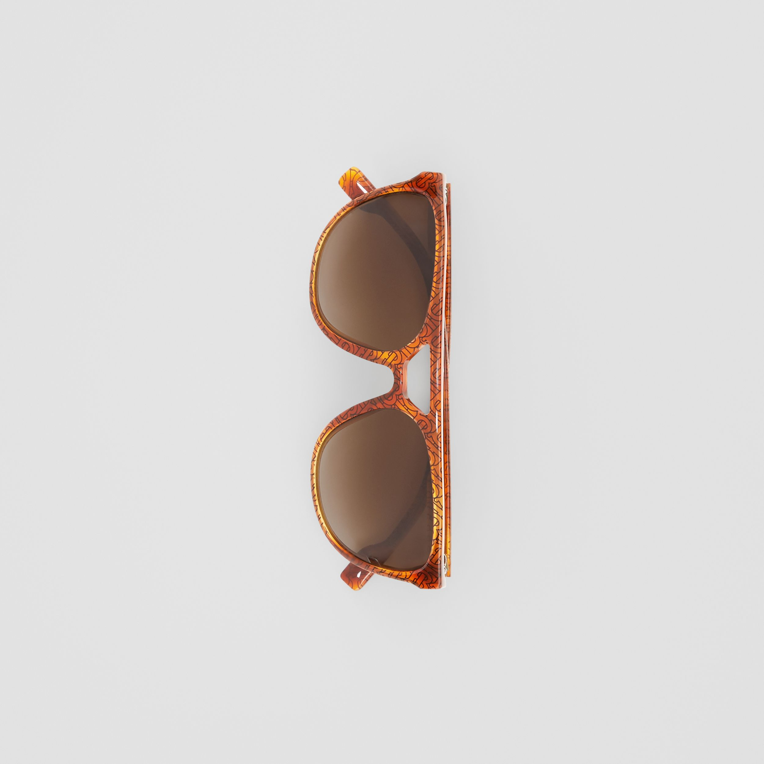 Navigator Sunglasses in Tortoiseshell Amber - Men | Burberry - 4